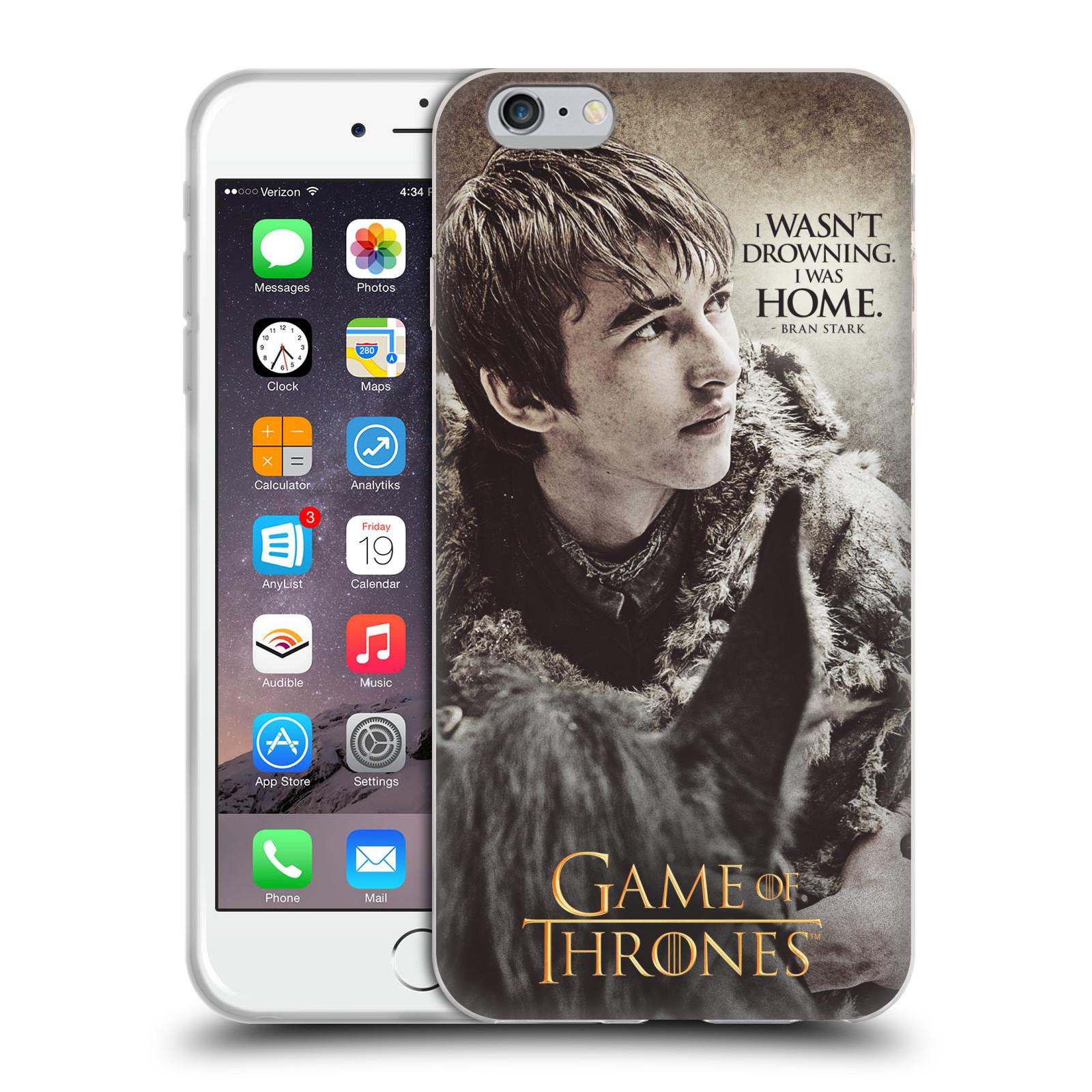 HEAD CASE silikonový obal na mobil Apple Iphone 6/6S PLUS oficiální kryt Hra o trůny Bran Stark