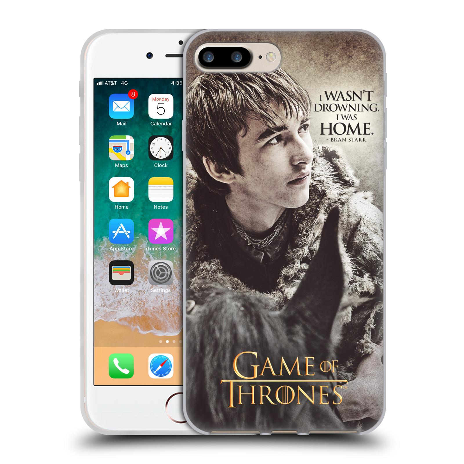 HEAD CASE silikonový obal na mobil Apple Iphone 7 PLUS oficiální kryt Hra o trůny Bran Stark