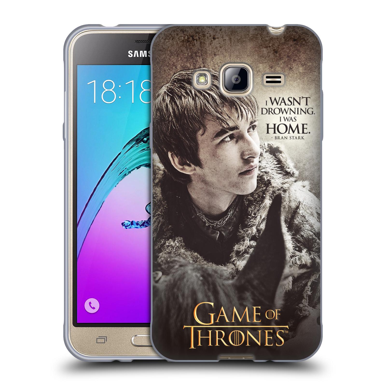 HEAD CASE silikonový obal na mobil Samsung Galaxy J3, J3 2016 oficiální kryt Hra o trůny Bran Stark