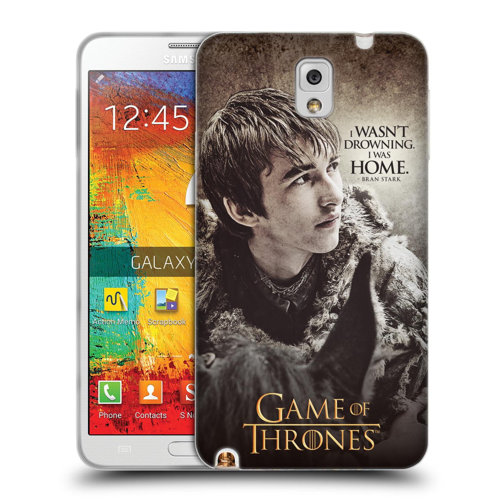 HEAD CASE silikonový obal na mobil Samsung Galaxy Note 3 oficiální kryt Hra o trůny Bran Stark