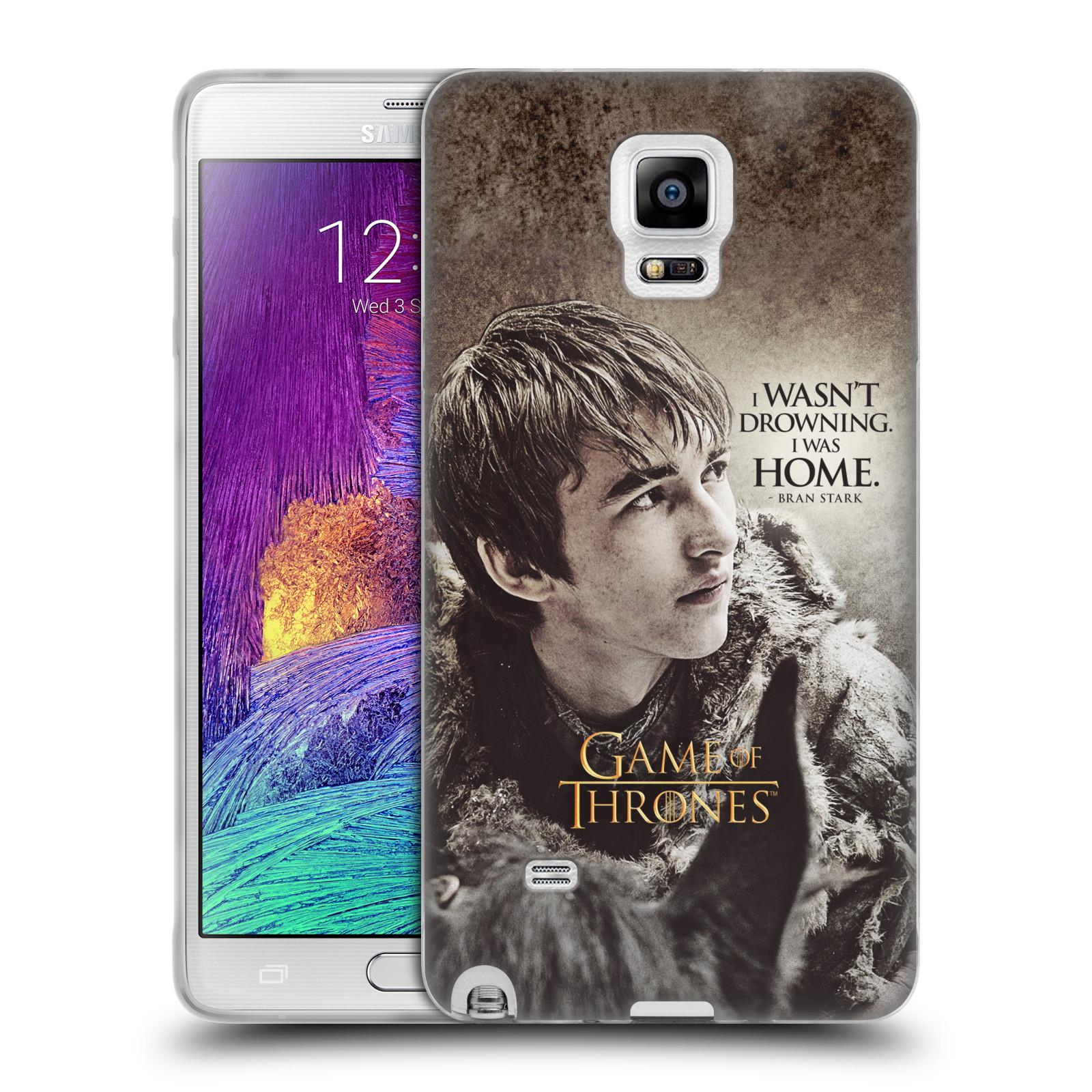 HEAD CASE silikonový obal na mobil Samsung Galaxy Note 4 oficiální kryt Hra o trůny Bran Stark