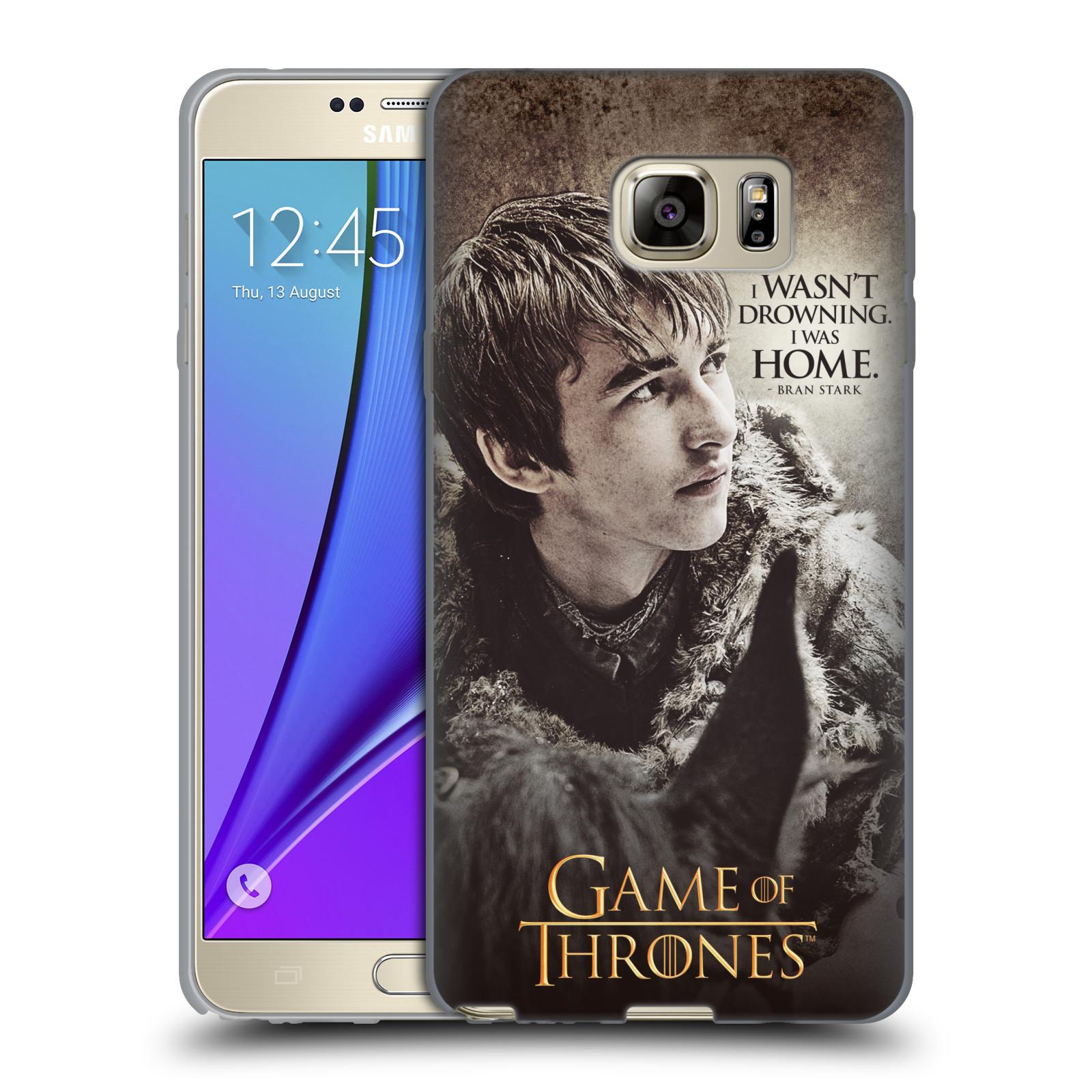 HEAD CASE silikonový obal na mobil Samsung Galaxy Note 5 oficiální kryt Hra o trůny Bran Stark