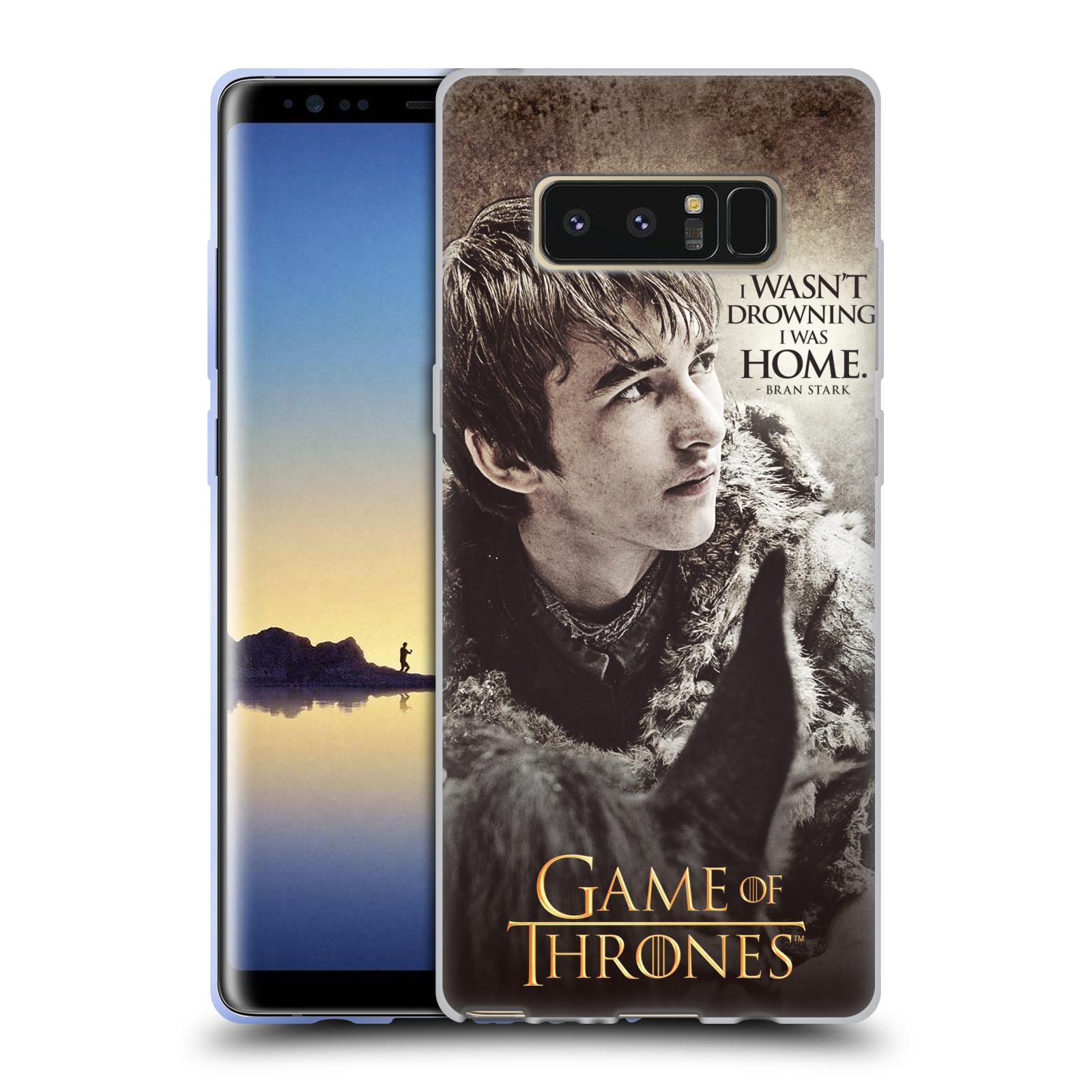 HEAD CASE silikonový obal na mobil Samsung Galaxy Note 8 oficiální kryt Hra o trůny Bran Stark