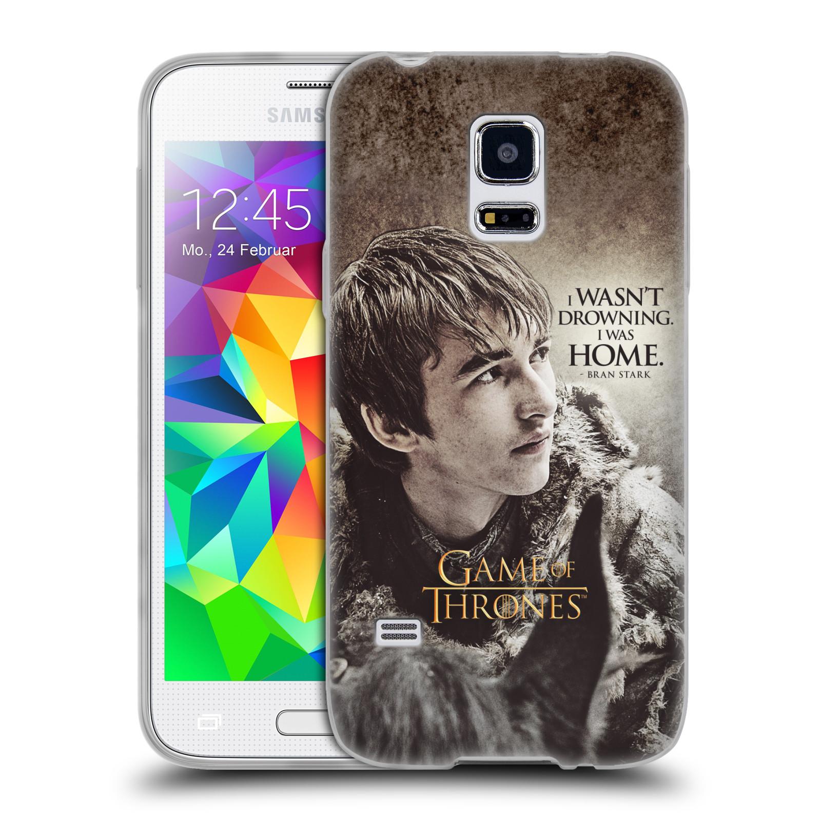 HEAD CASE silikonový obal na mobil Samsung Galaxy S5 MINI oficiální kryt Hra o trůny Bran Stark
