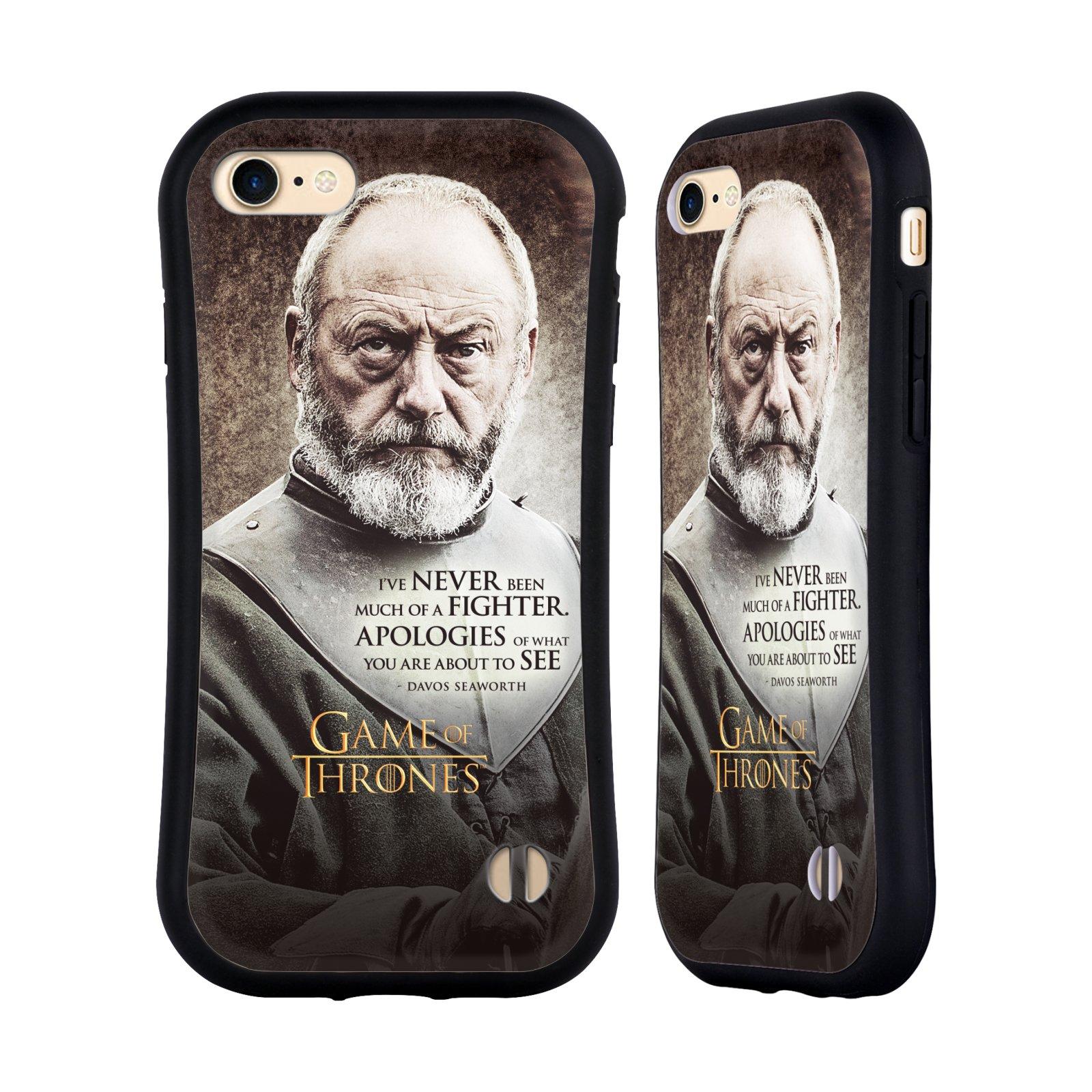 HEAD CASE odolný obal na mobil Apple Iphone 8 oficiální kryt Hra o trůny Davos Seaworth