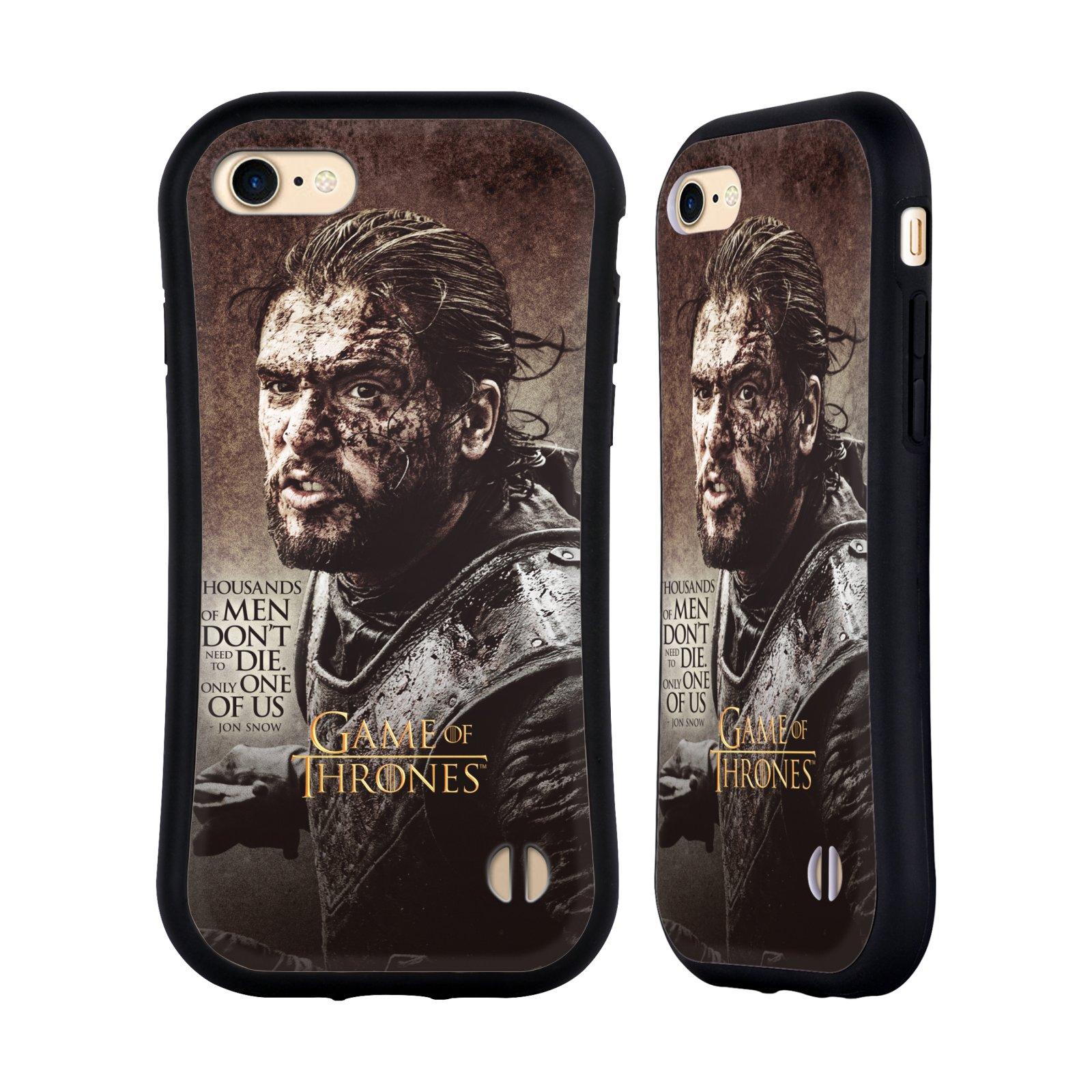 HEAD CASE odolný obal na mobil Apple Iphone 8 oficiální kryt Hra o trůny Jon Snow