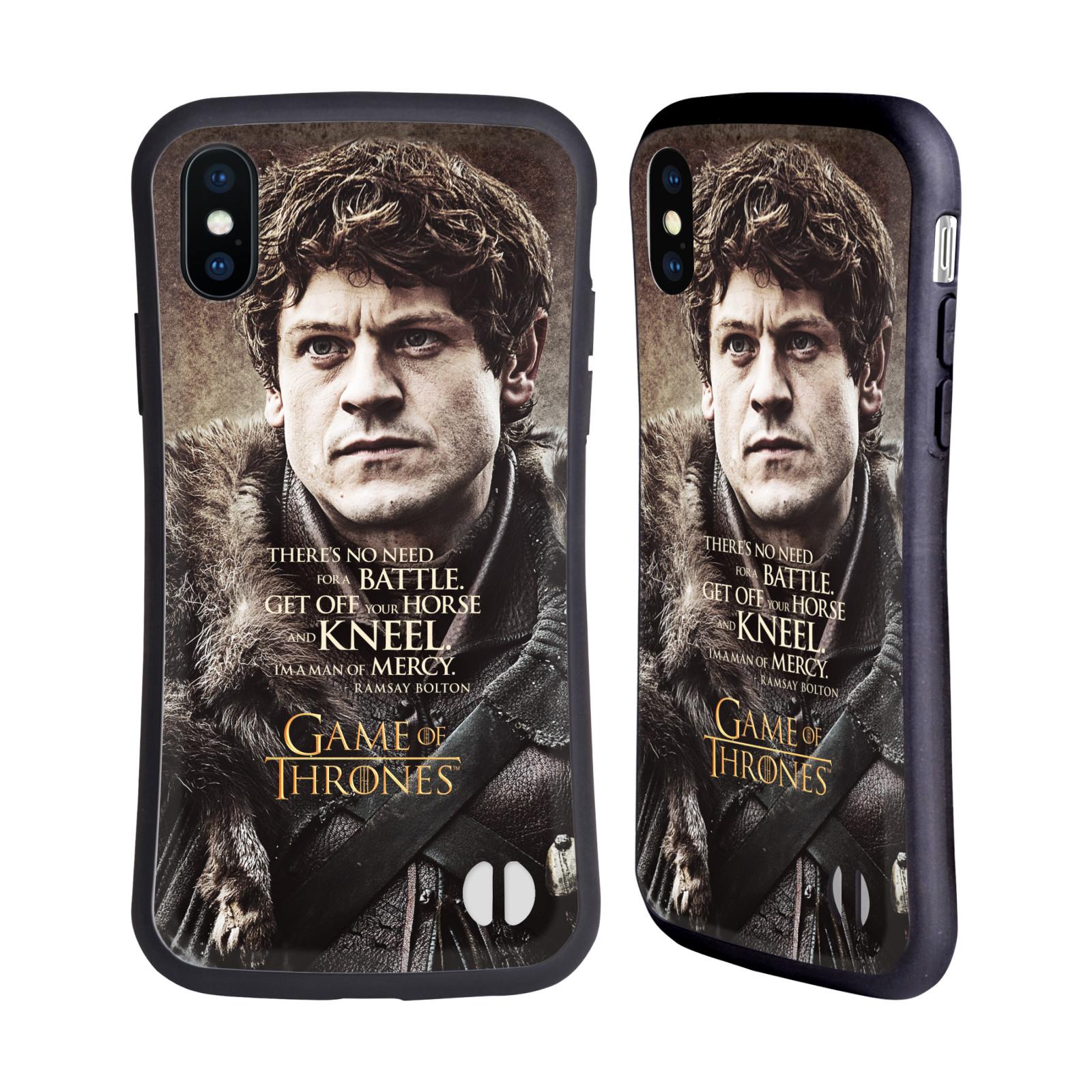 HEAD CASE odolný obal na mobil Apple Iphone X a XS oficiální kryt Hra o trůny Ramsay Bolton