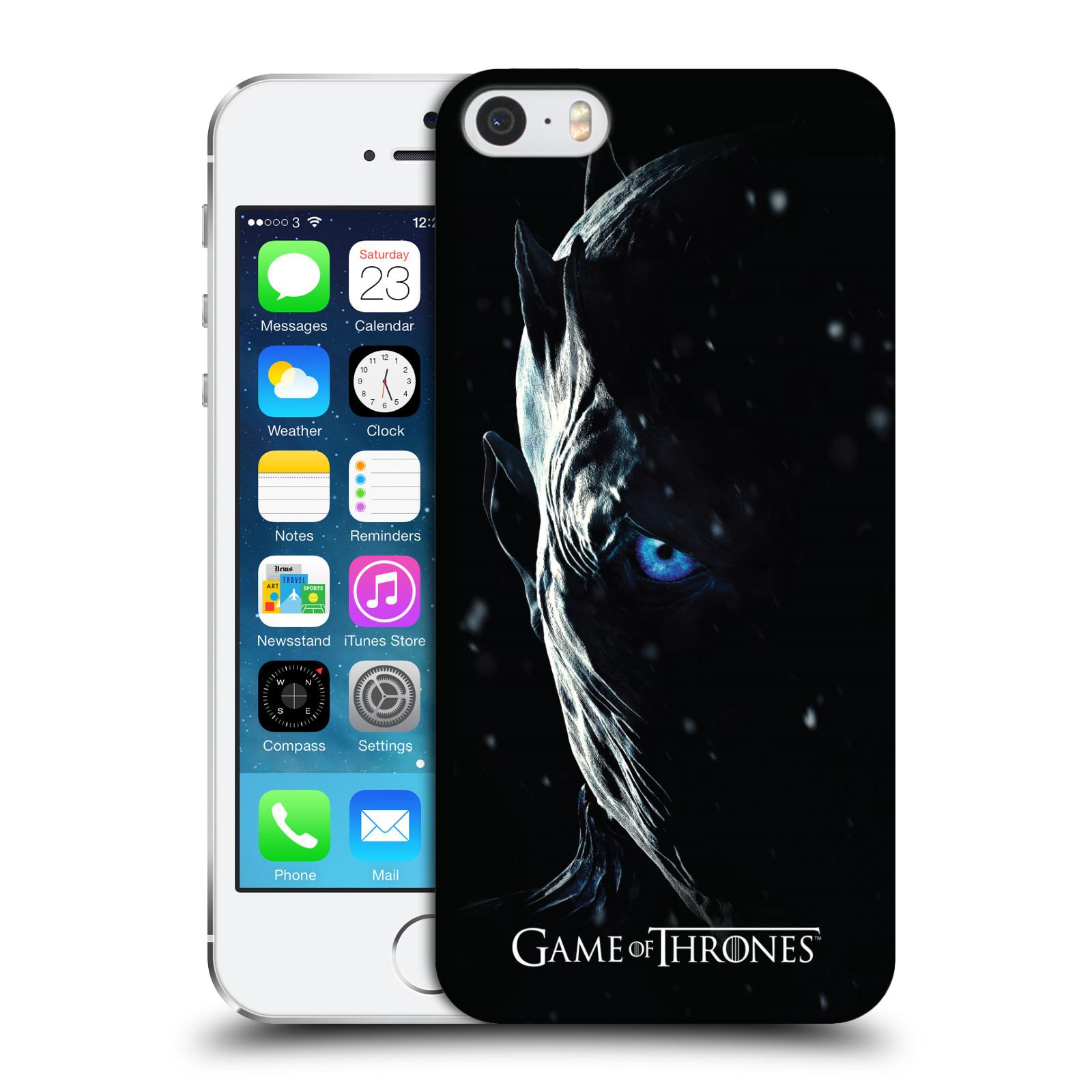 Plastové pouzdro pro mobil Apple Iphone 5   5S   SE oficiální kryt Hra o  trůny Noční král (7 série) d7562acc40f