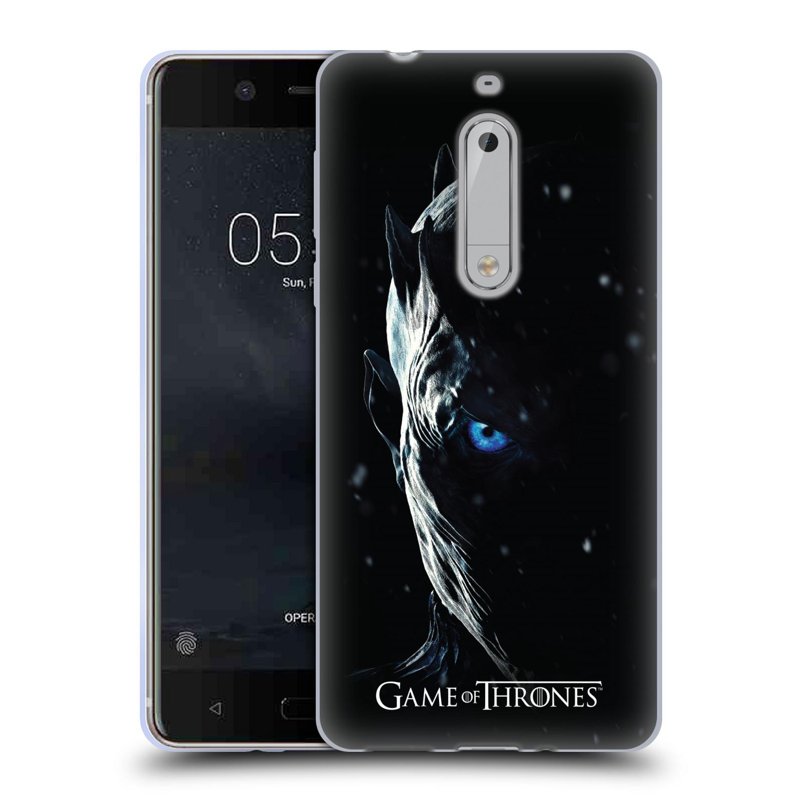 HEAD CASE silikonový obal na mobil Nokia 5 oficiální kryt Hra o trůny Noční král (7 série)