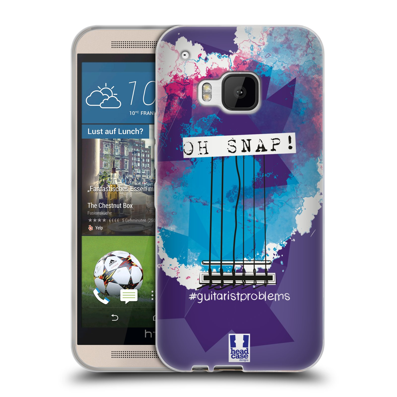 HEAD CASE GUITARIST PROBLEMS SILICONE GEL CASE FOR HTC ONE M9