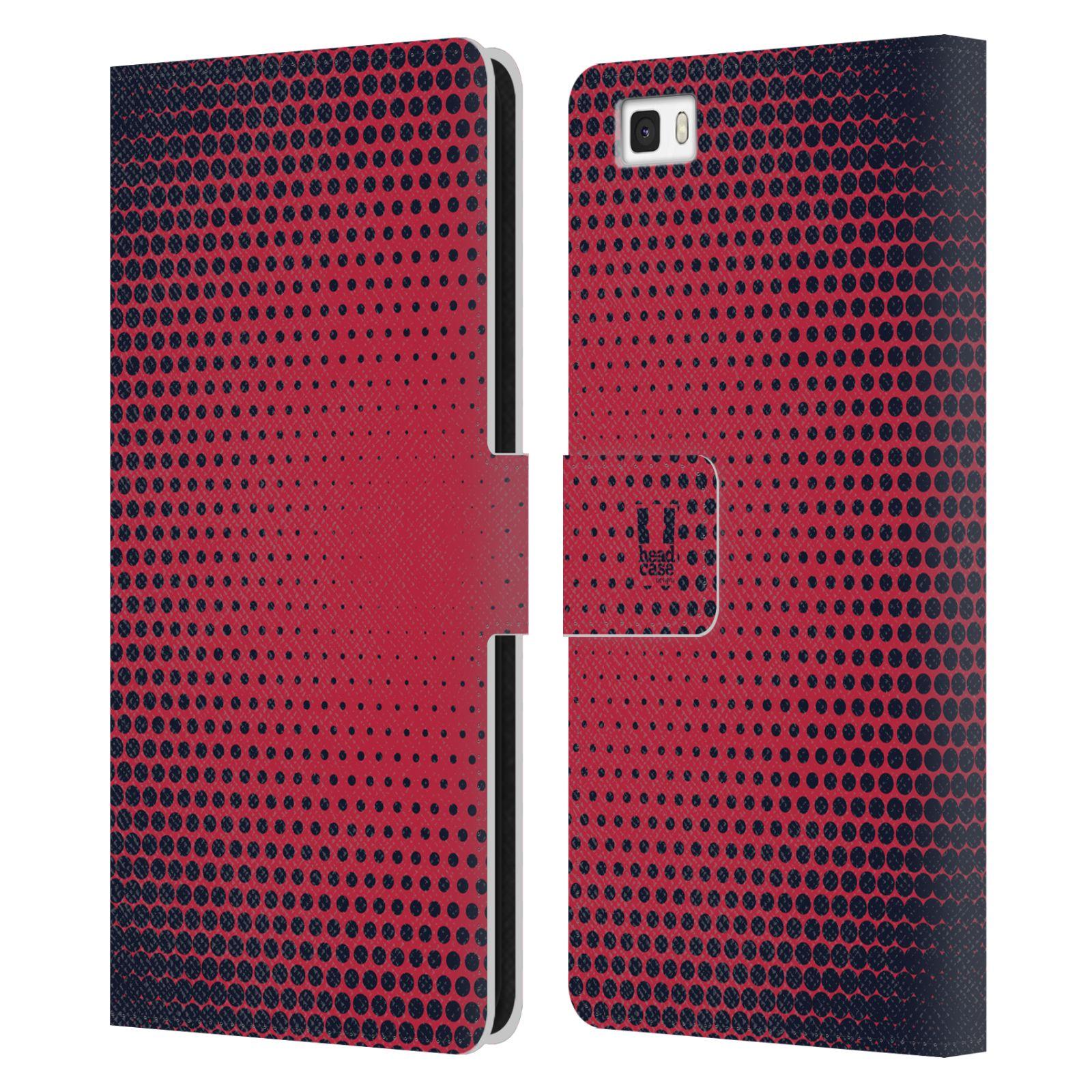 HEAD CASE Flipové pouzdro pro mobil Huawei P8 LITE prolínající se tečky červená