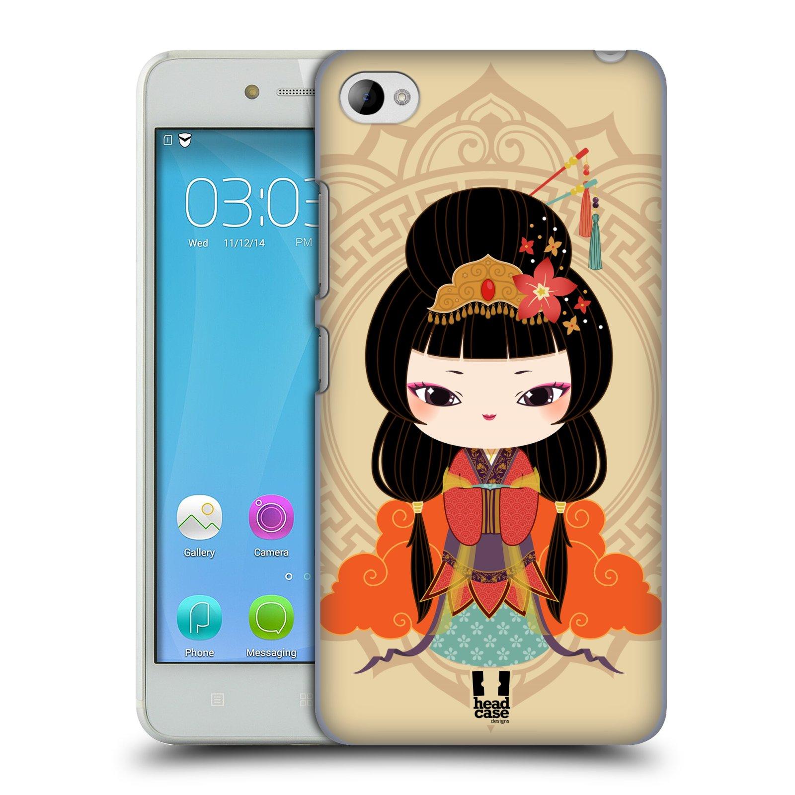 HEAD CASE pevný plastový obal na mobil LENOVO S90 vzor Hanfu Japonská panenka MEI