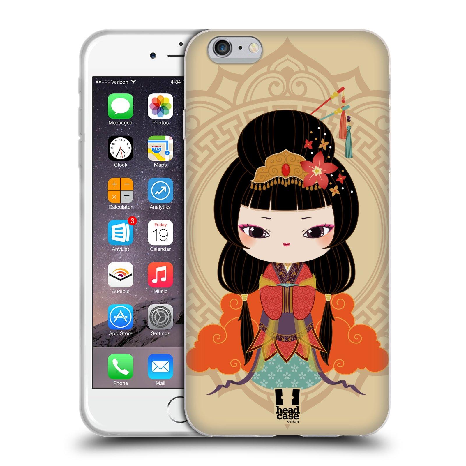 HEAD CASE silikonový obal na mobil Apple Iphone 6 PLUS/ 6S PLUS vzor Hanfu Japonská panenka MEI
