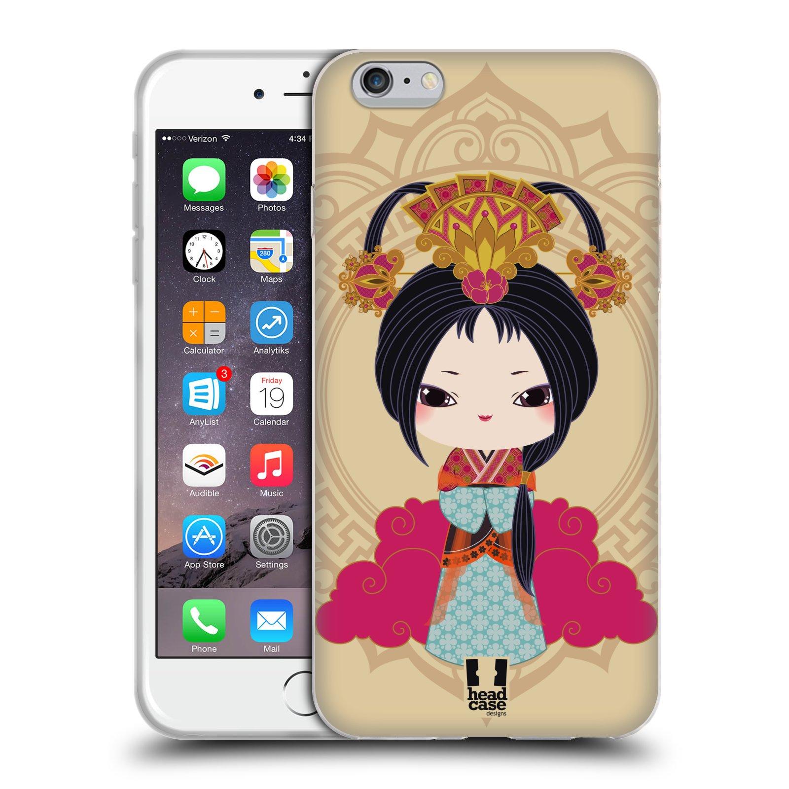 HEAD CASE silikonový obal na mobil Apple Iphone 6 PLUS/ 6S PLUS vzor Hanfu Japonská panenka XIU