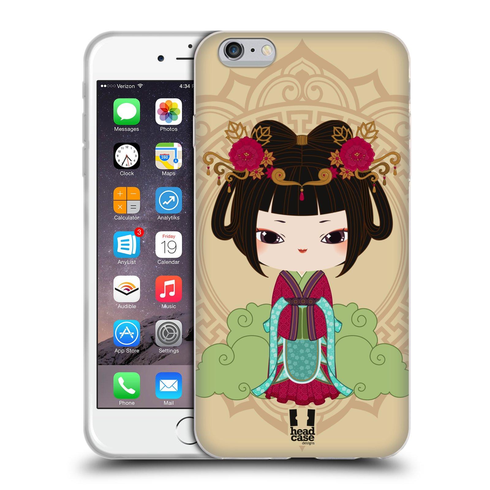 HEAD CASE silikonový obal na mobil Apple Iphone 6 PLUS/ 6S PLUS vzor Hanfu Japonská panenka YIN