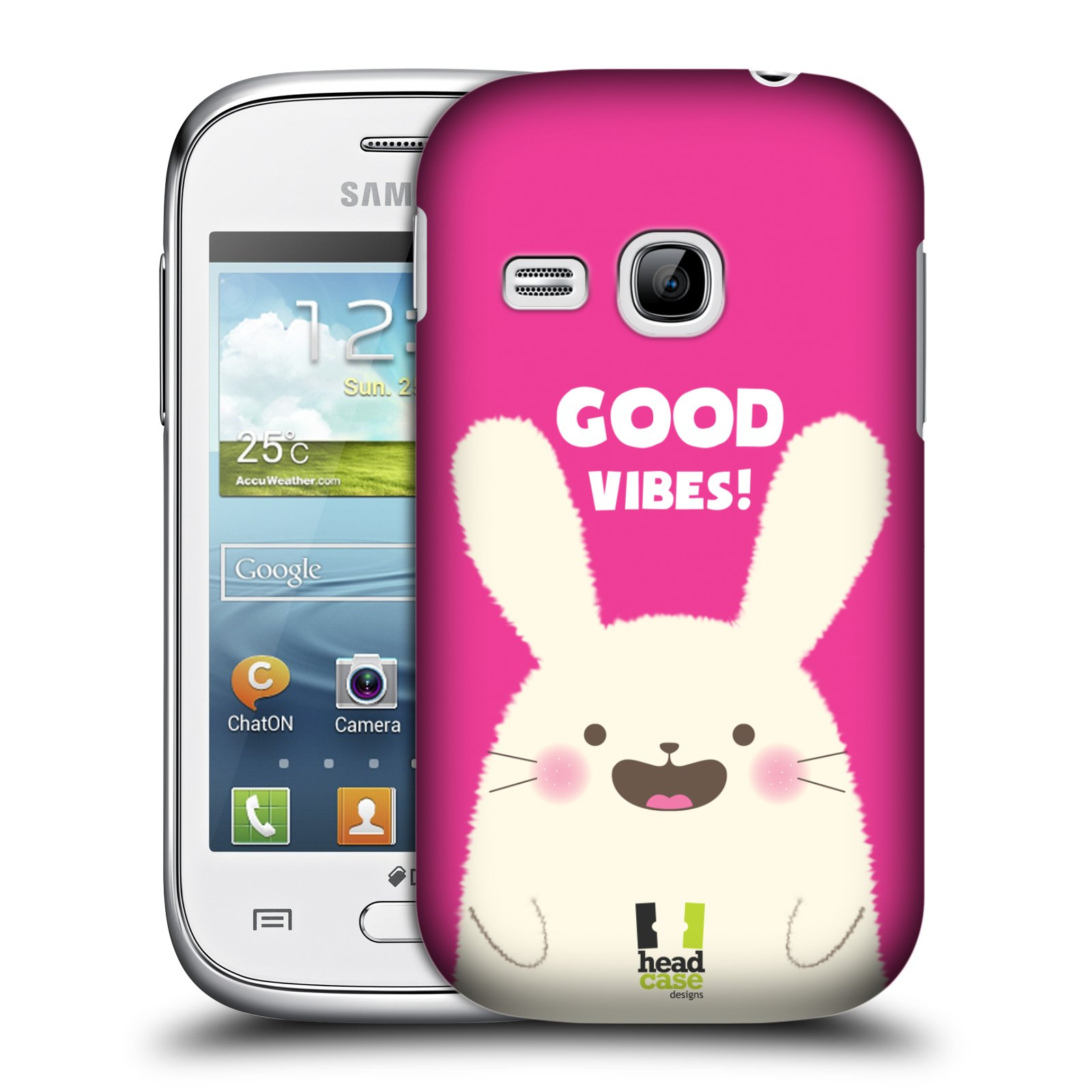 HEAD CASE DESIGNS HAPPY ANIMALS HARD BACK CASE FOR SAMSUNG GALAXY YOUNG S6310