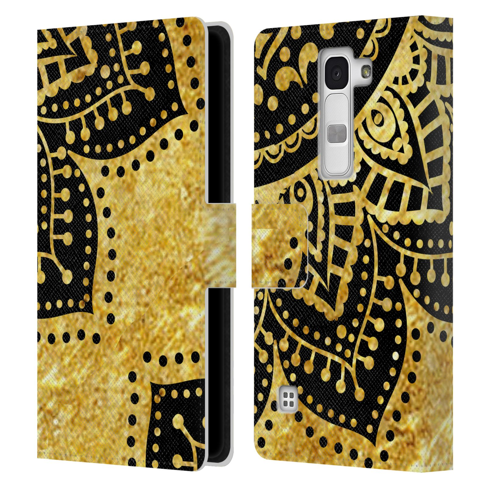 Book Cover Black And Gold : Official haroulita black and gold leather book wallet case