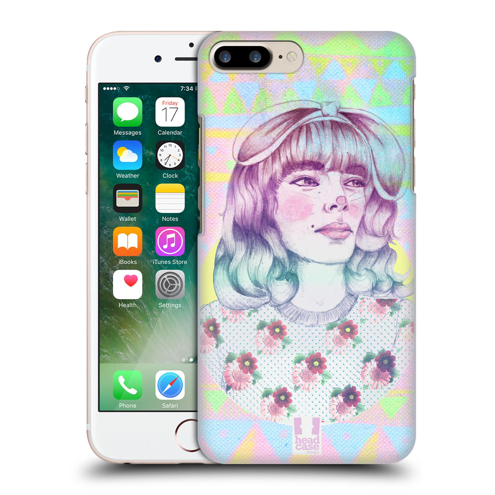 HEAD CASE plastový obal na mobil Apple Iphone 7 PLUS vzor Děvče zvířecí tématika zajíček