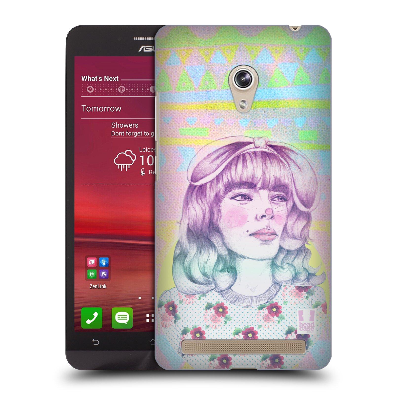 HEAD CASE plastový obal na mobil Asus Zenfone 6 vzor Děvče zvířecí tématika zajíček
