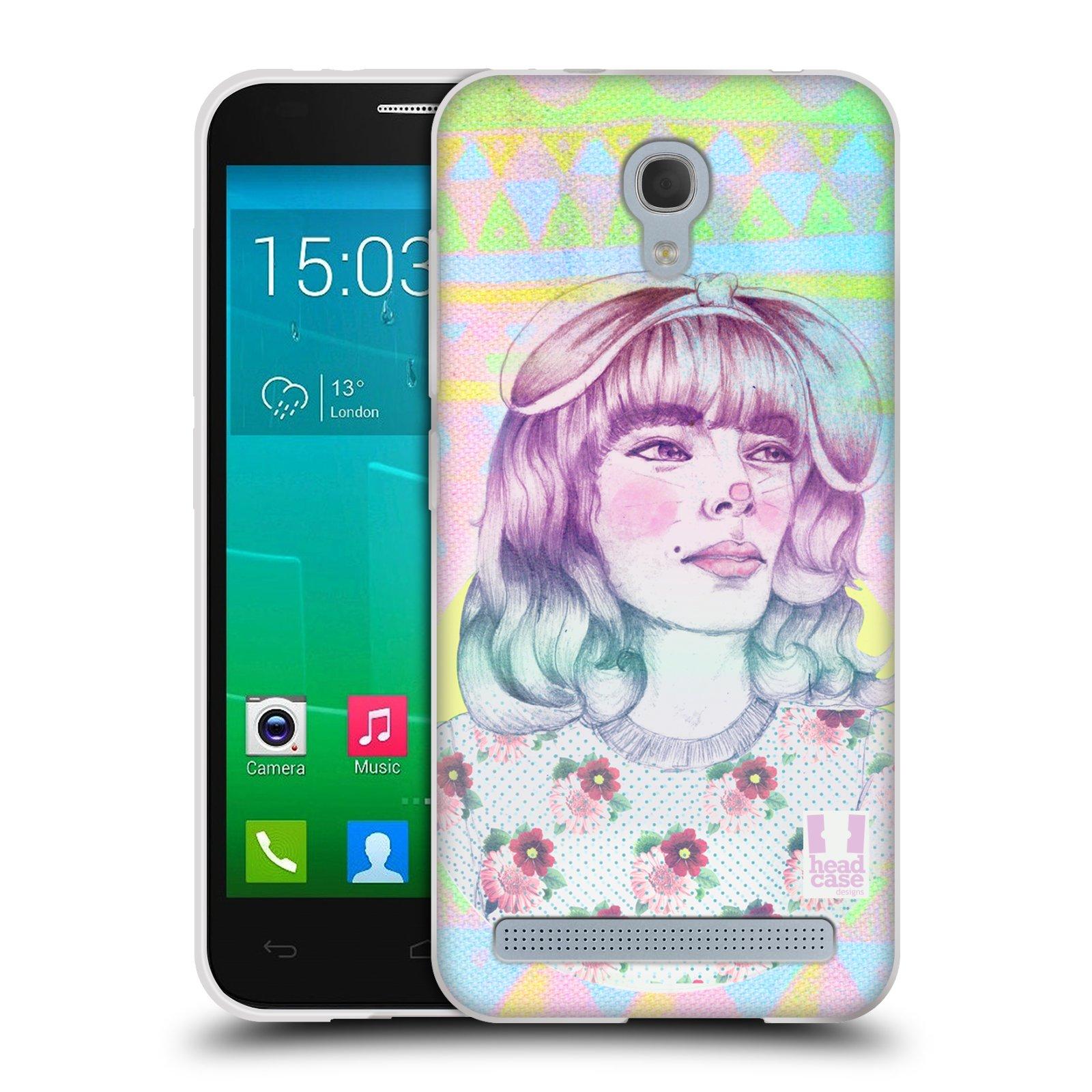 HEAD CASE silikonový obal na mobil Alcatel Idol 2 MINI S 6036Y vzor Děvče zvířecí tématika zajíček
