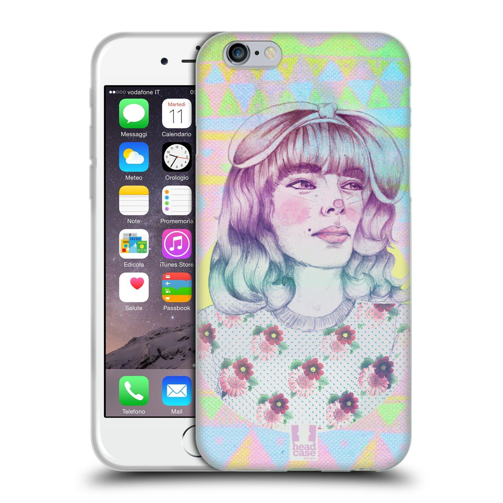 HEAD CASE silikonový obal na mobil Apple Iphone 6/6S vzor Děvče zvířecí tématika zajíček