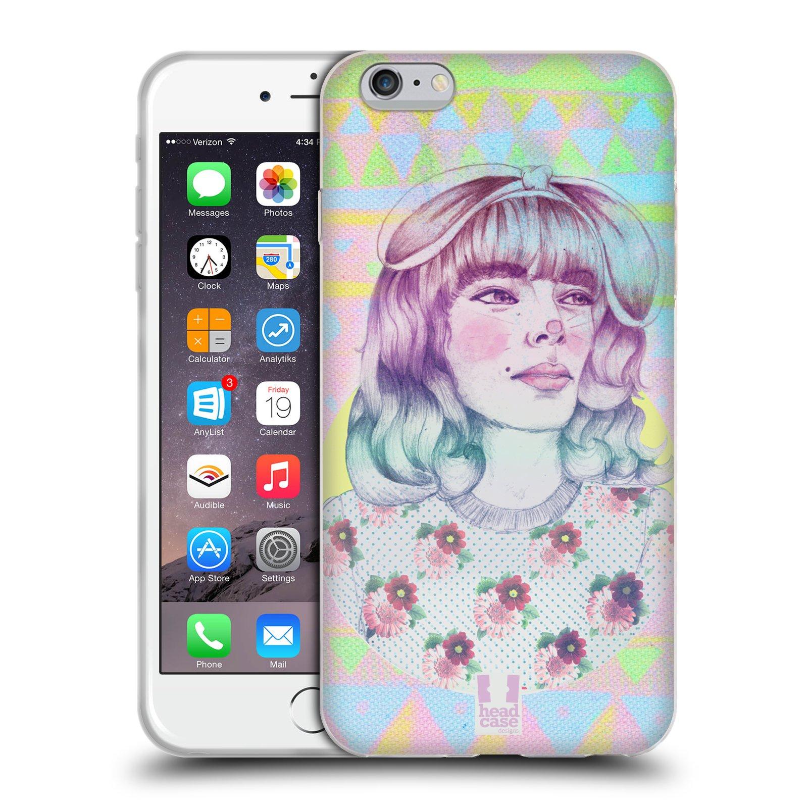 HEAD CASE silikonový obal na mobil Apple Iphone 6 PLUS  6S PLUS vzor Děvče  zvířecí tématika zajíček f144dda64dd
