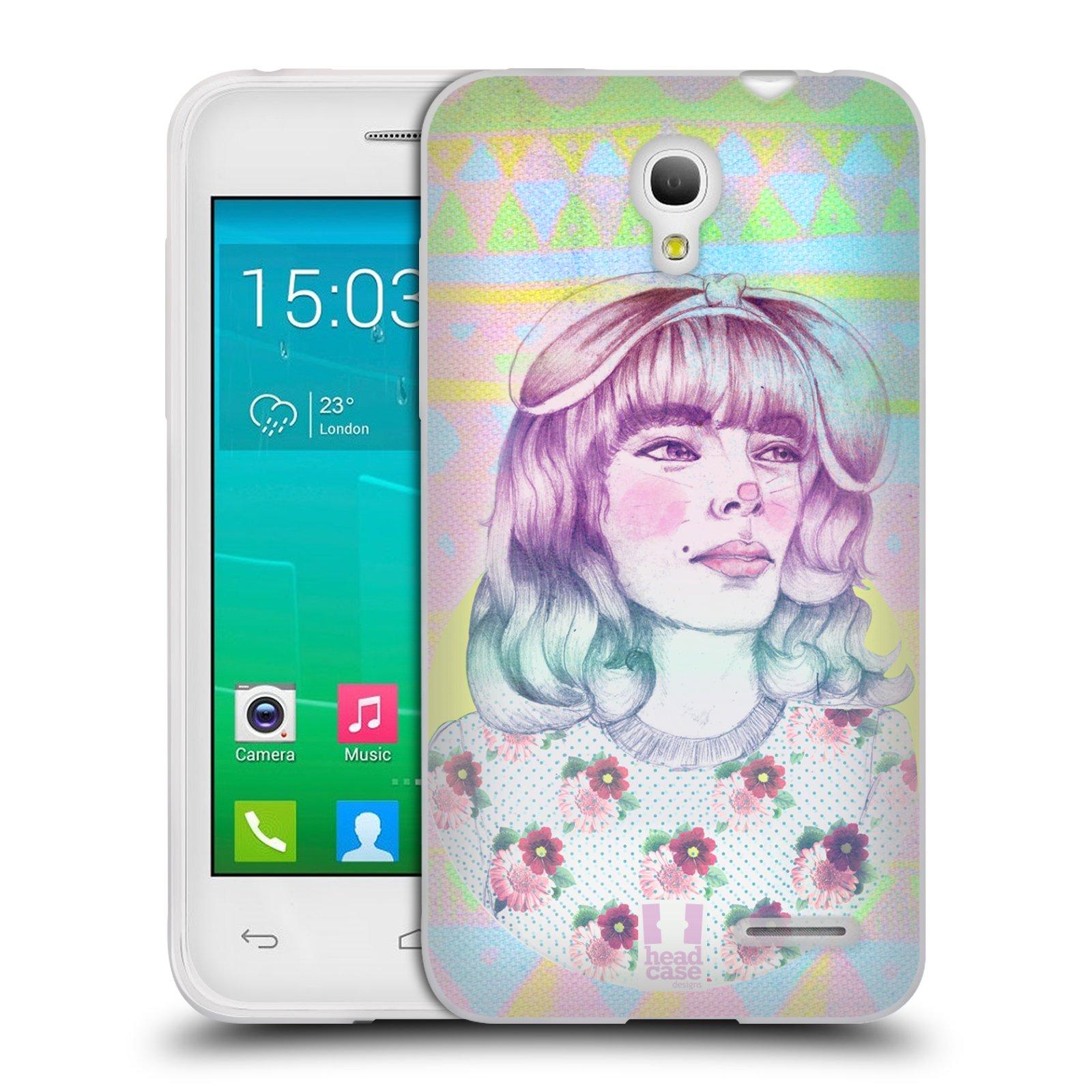HEAD CASE silikonový obal na mobil Alcatel POP S3 OT-5050Y vzor Děvče zvířecí tématika zajíček