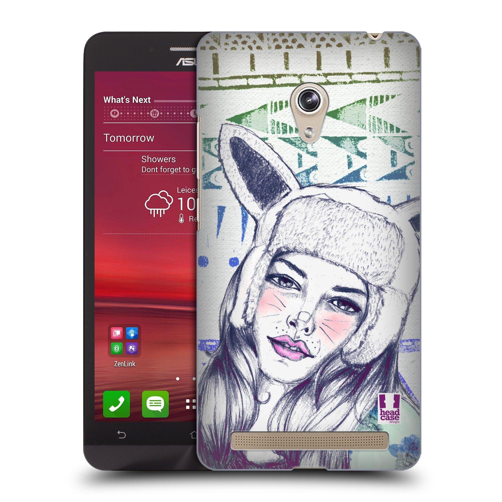 HEAD CASE plastový obal na mobil Asus Zenfone 6 vzor Děvče zvířecí tématika zajíček čepka
