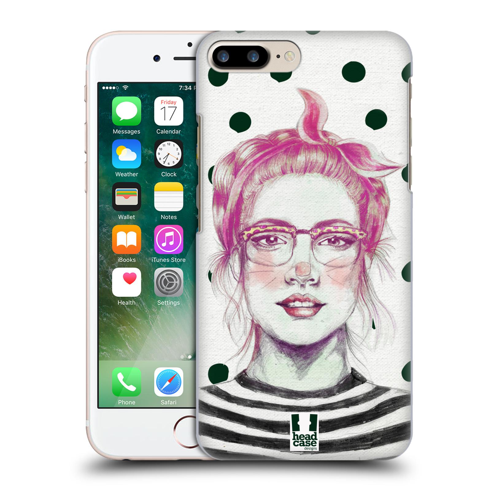 HEAD CASE plastový obal na mobil Apple Iphone 7 PLUS vzor Děvče zvířecí tématika zajíček puntíky