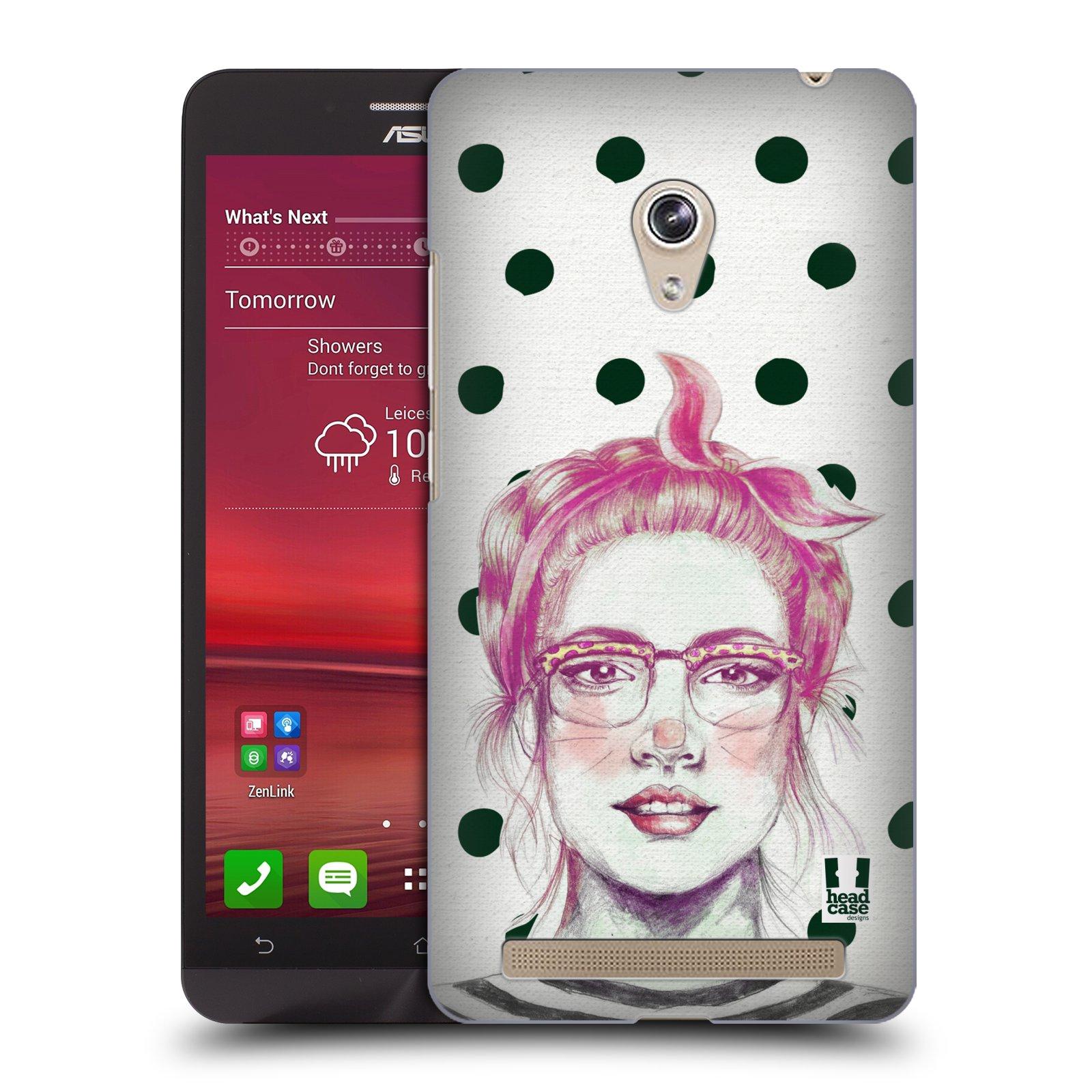 HEAD CASE plastový obal na mobil Asus Zenfone 6 vzor Děvče zvířecí tématika zajíček puntíky