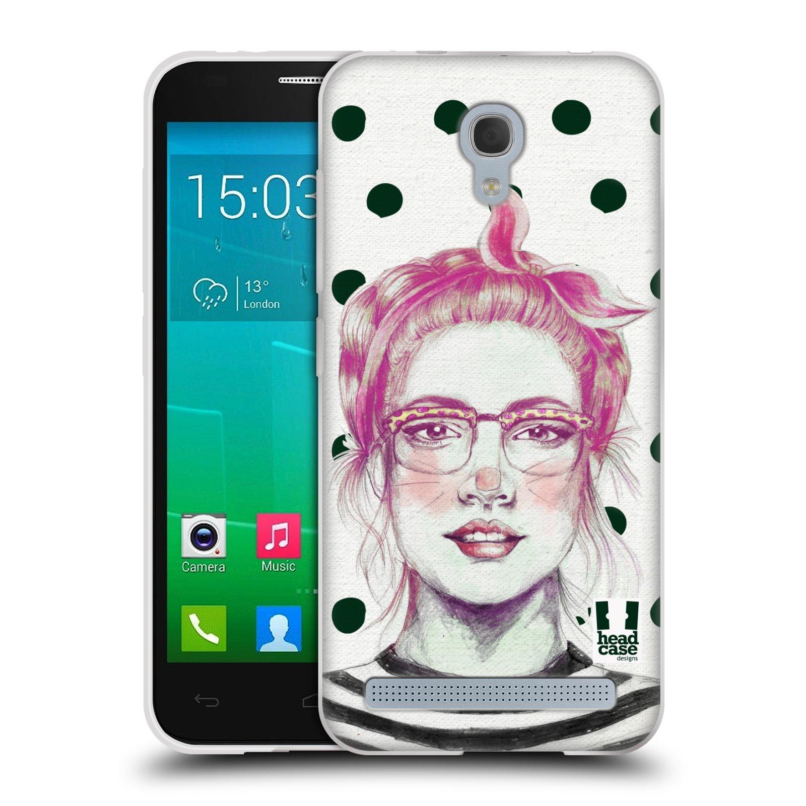 HEAD CASE silikonový obal na mobil Alcatel Idol 2 MINI S 6036Y vzor Děvče zvířecí tématika zajíček puntíky