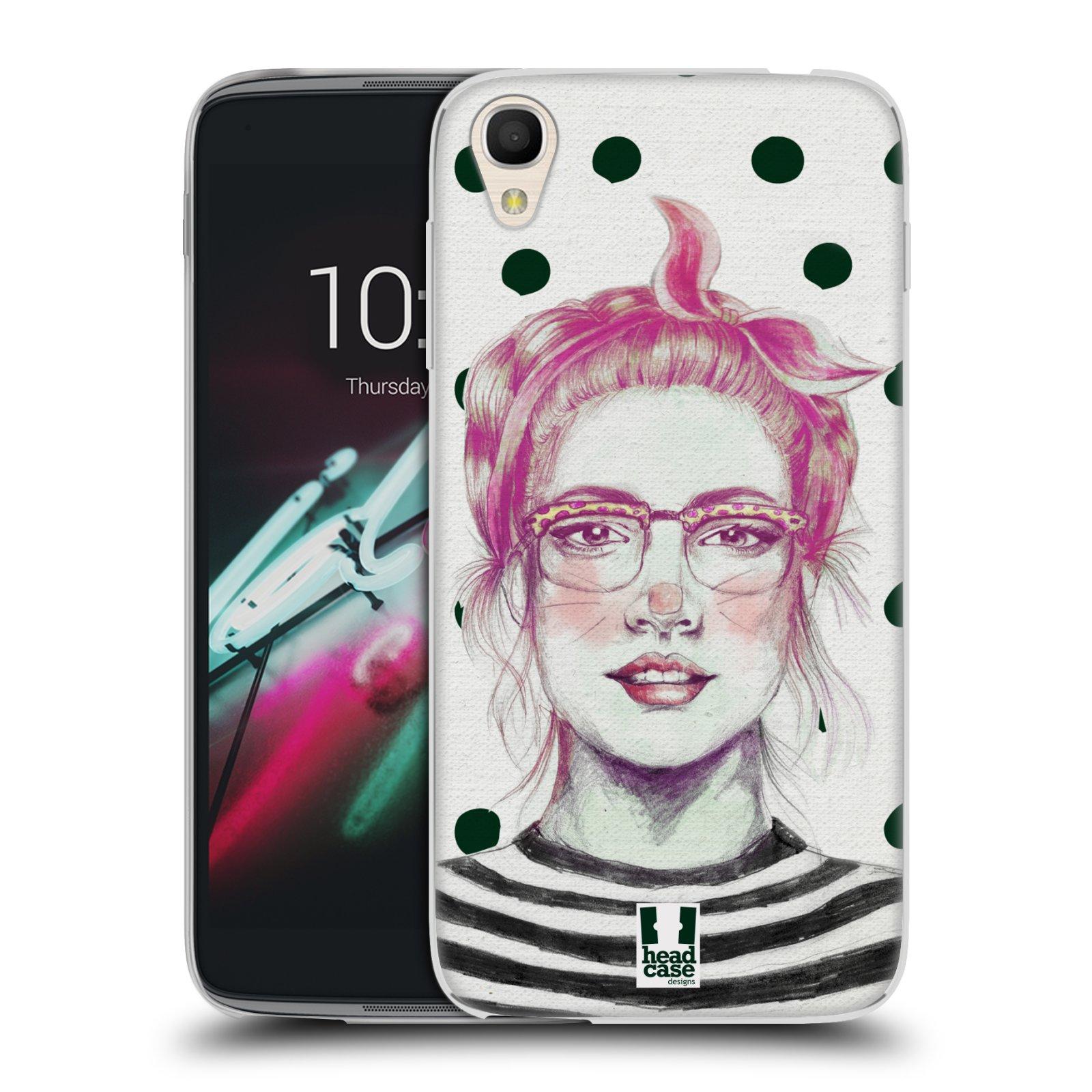 HEAD CASE silikonový obal na mobil Alcatel Idol 3 OT-6039Y (4.7) vzor Děvče zvířecí tématika zajíček puntíky