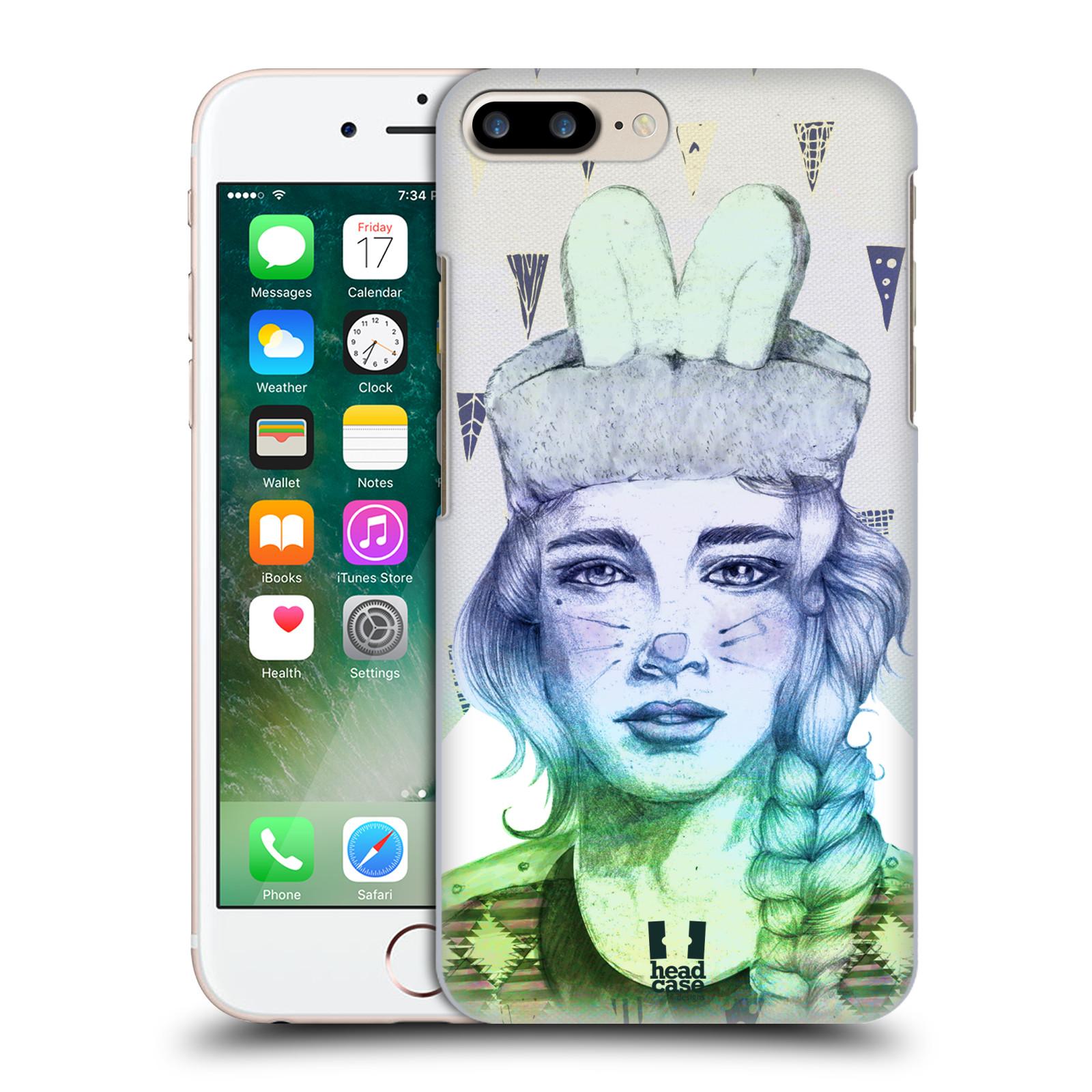 HEAD CASE plastový obal na mobil Apple Iphone 7 PLUS vzor Děvče zvířecí tématika zajíček triangl