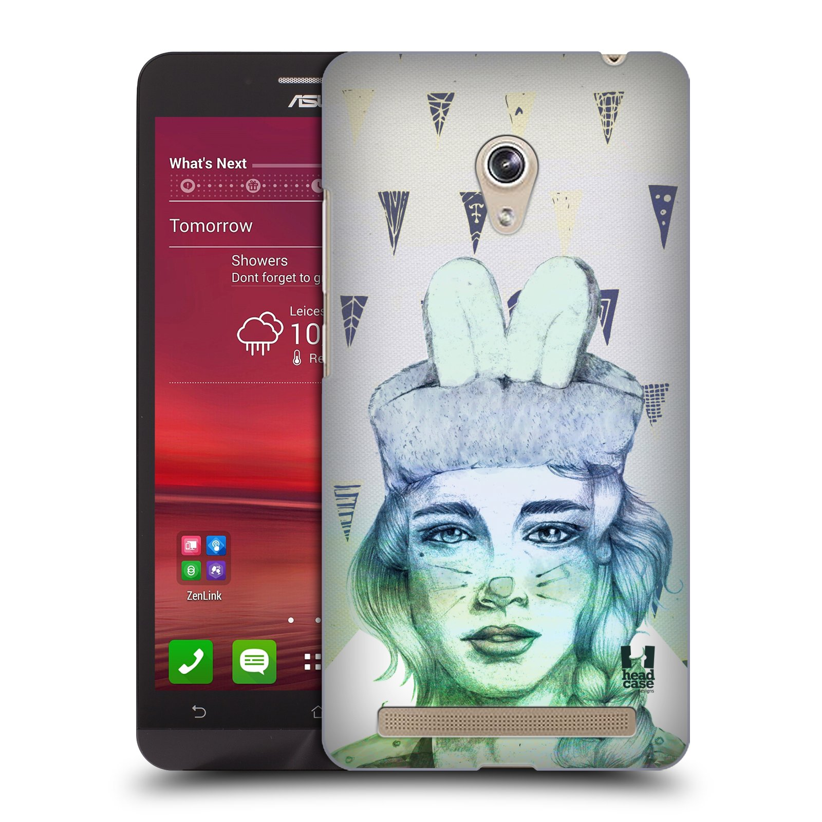 HEAD CASE plastový obal na mobil Asus Zenfone 6 vzor Děvče zvířecí tématika zajíček triangl