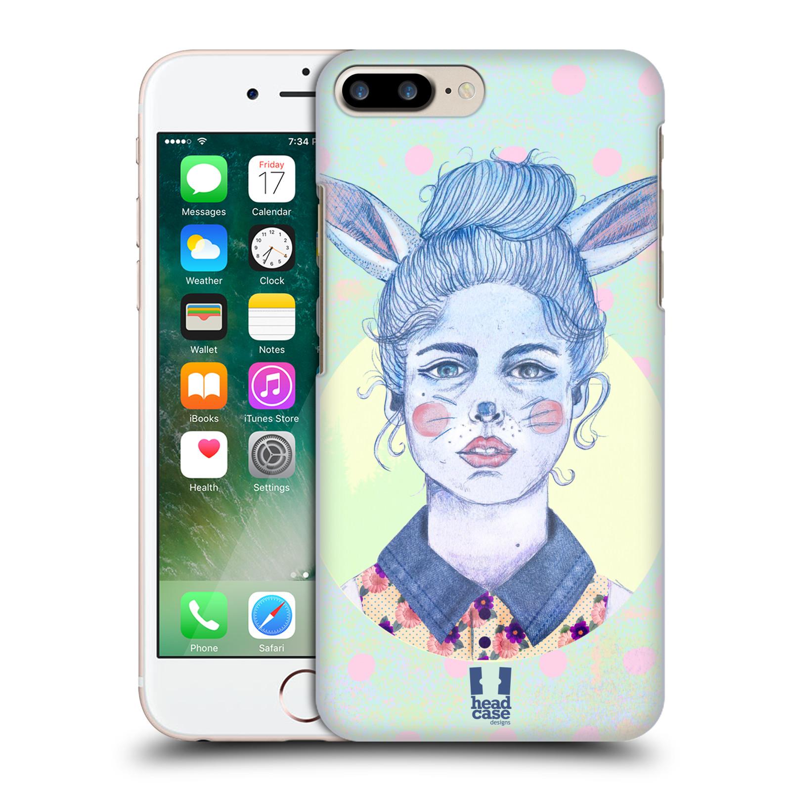 HEAD CASE plastový obal na mobil Apple Iphone 7 PLUS vzor Děvče zvířecí tématika zajíček zima