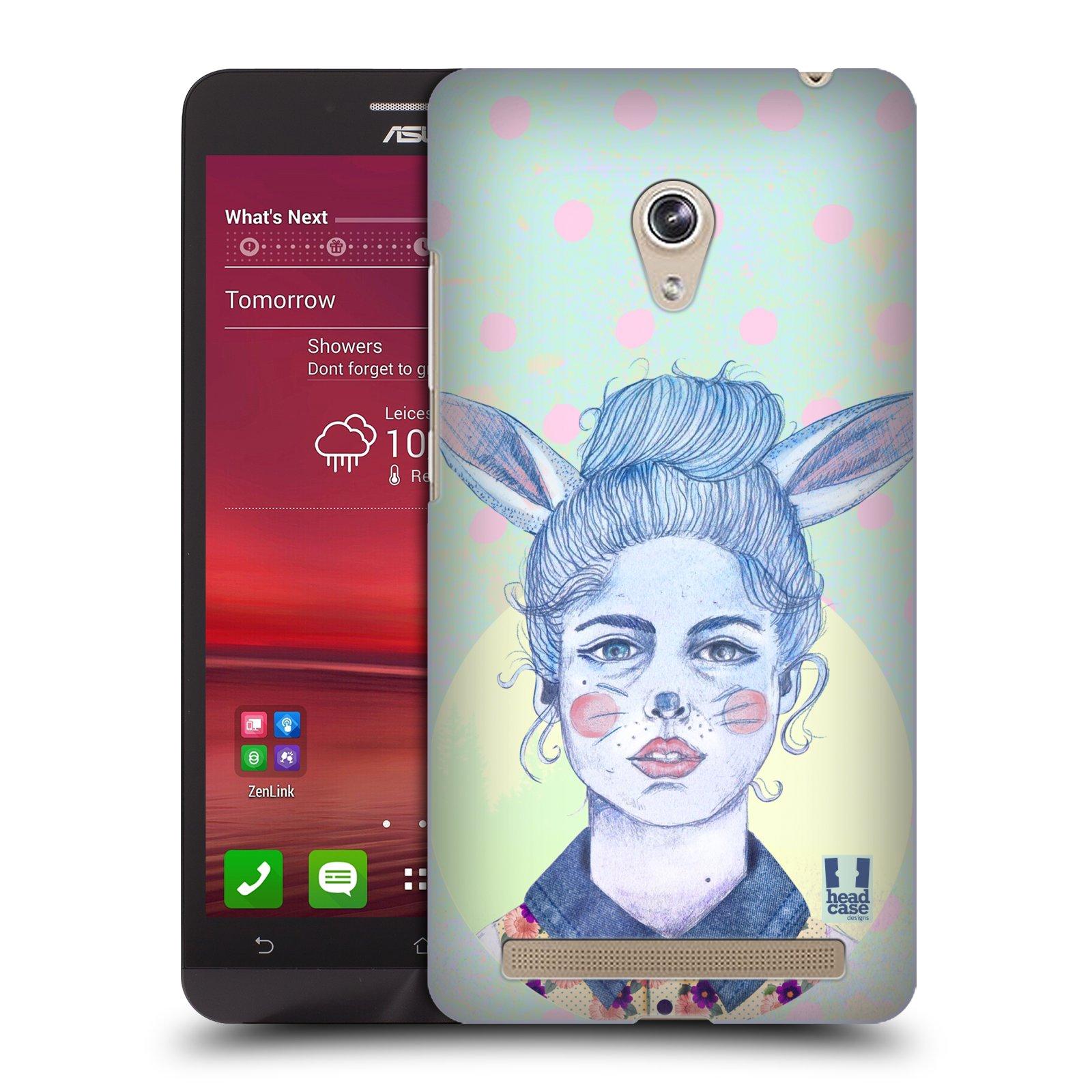 HEAD CASE plastový obal na mobil Asus Zenfone 6 vzor Děvče zvířecí tématika zajíček zima