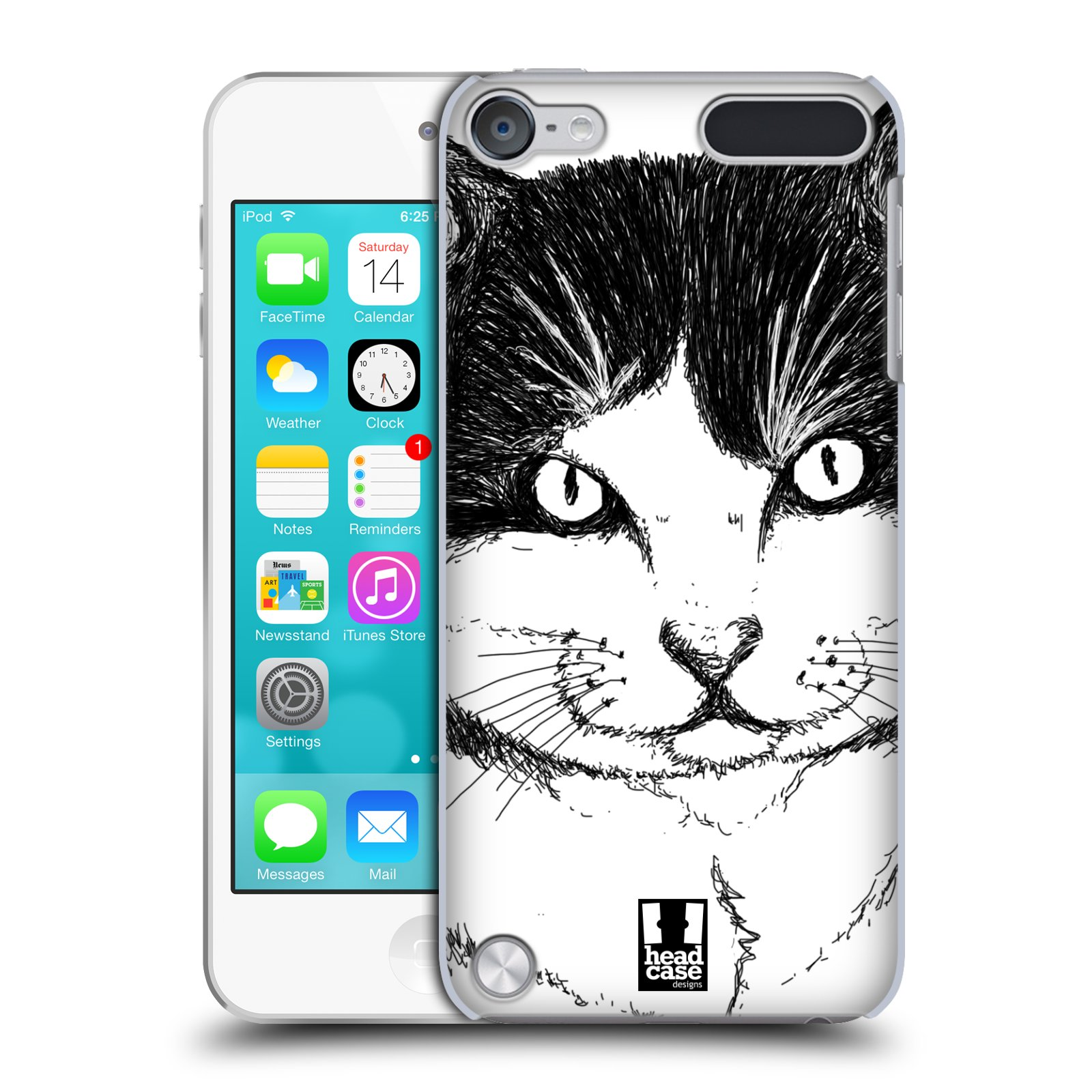 HEAD CASE DESIGNS DRAWN ANIMALS CASE COVER FOR APPLE iPOD TOUCH 5G 5TH GEN