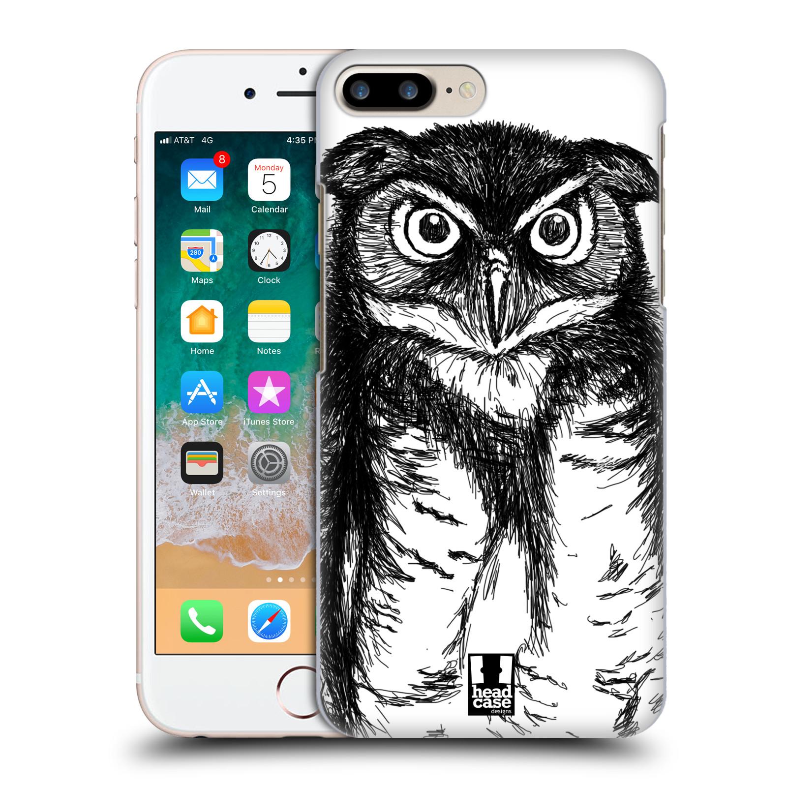 HEAD CASE plastový obal na mobil Apple Iphone 7 PLUS vzor Kreslená zvířátka černá a bílá sova
