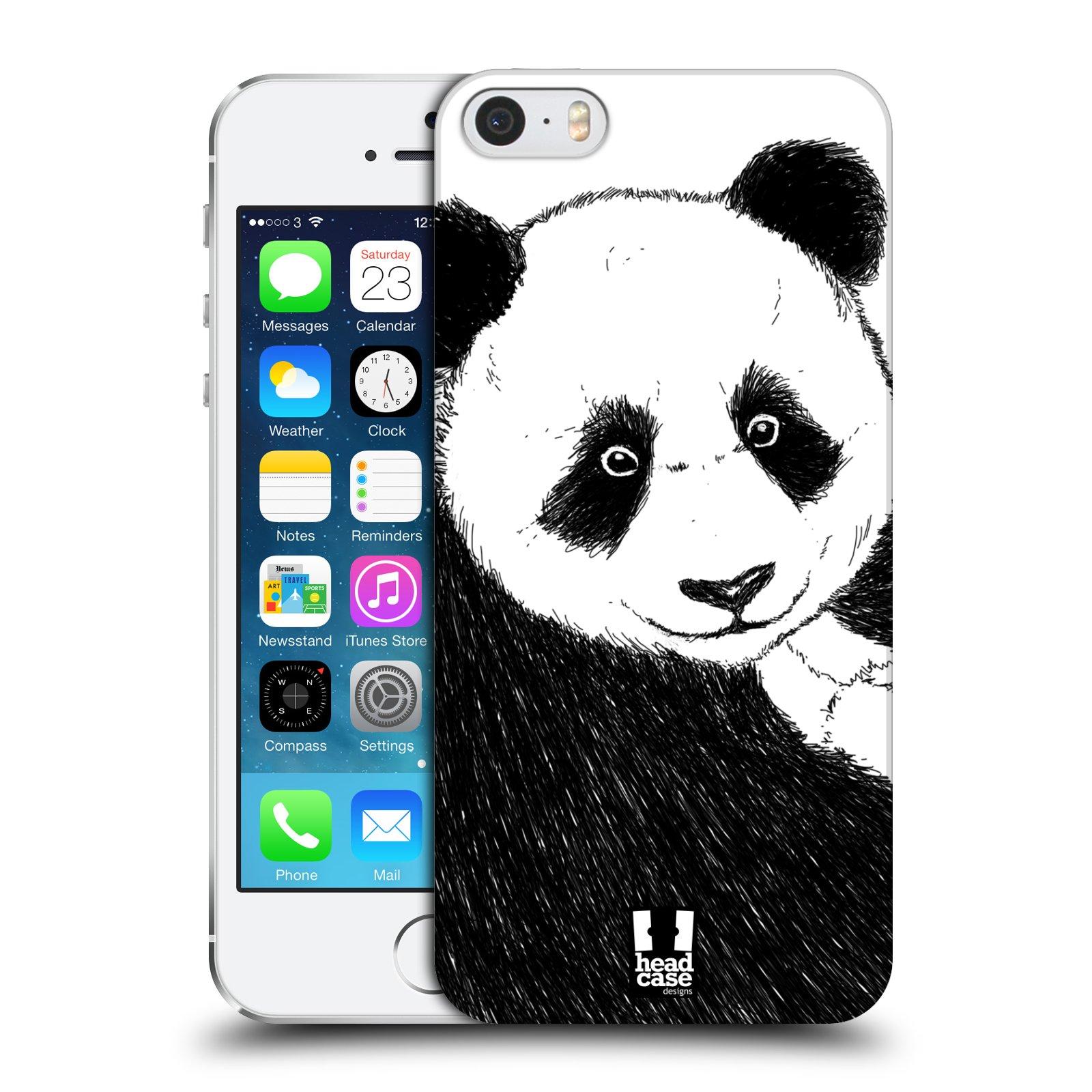 Plastové pouzdro pro mobil Apple Iphone 5 / 5S / SE vzor Kreslená zvířátka černá a bílá panda