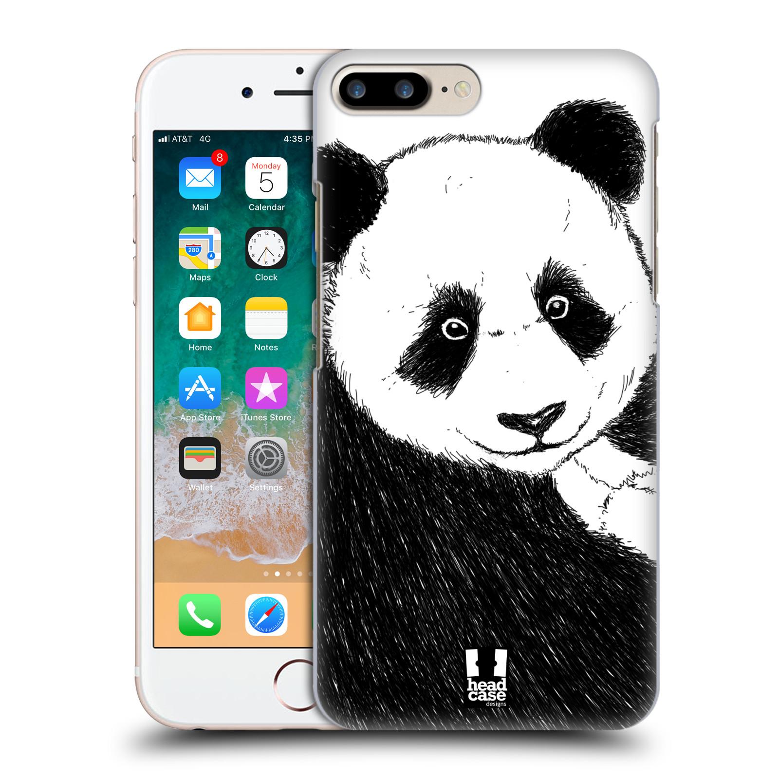HEAD CASE plastový obal na mobil Apple Iphone 7 PLUS vzor Kreslená zvířátka černá a bílá panda
