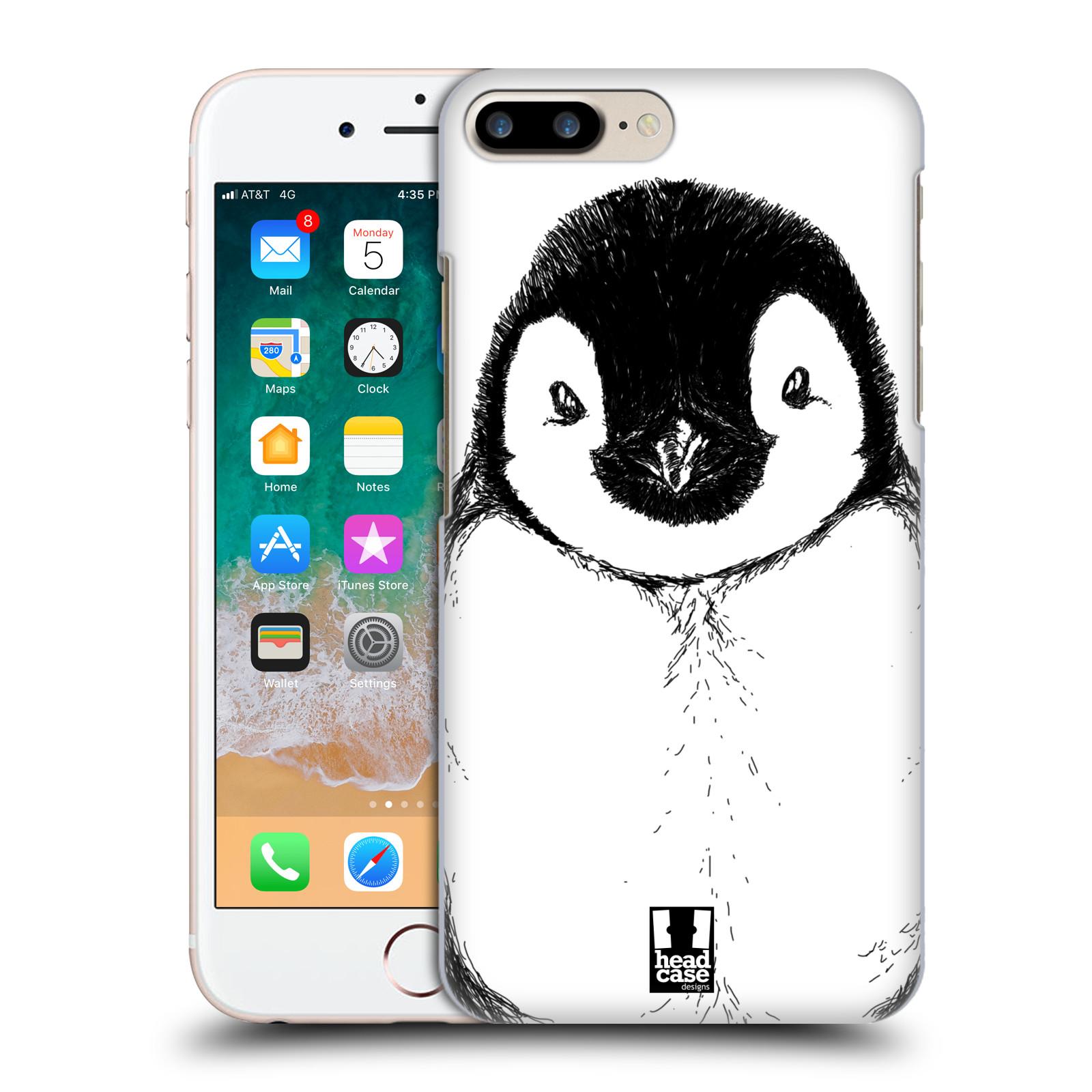 HEAD CASE plastový obal na mobil Apple Iphone 7 PLUS vzor Kreslená zvířátka černá a bílá tučňák