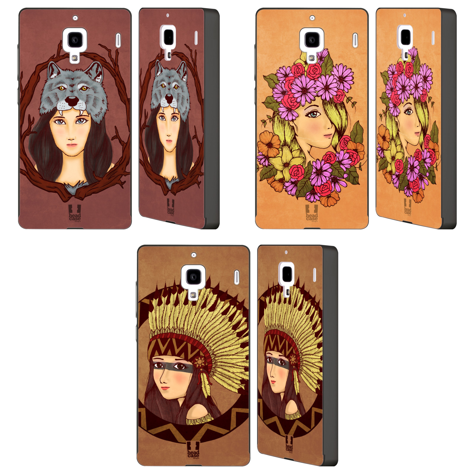 HEAD-CASE-DESIGNS-HEADDRESS-CHIC-BLACK-SLIDER-CASE-FOR-HUAWEI-XIAOMI-PHONES