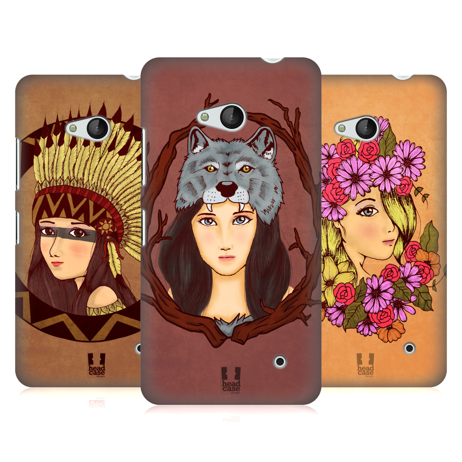 HEAD-CASE-DESIGNS-HEADDRESS-CHIC-HARD-BACK-CASE-FOR-MICROSOFT-PHONES
