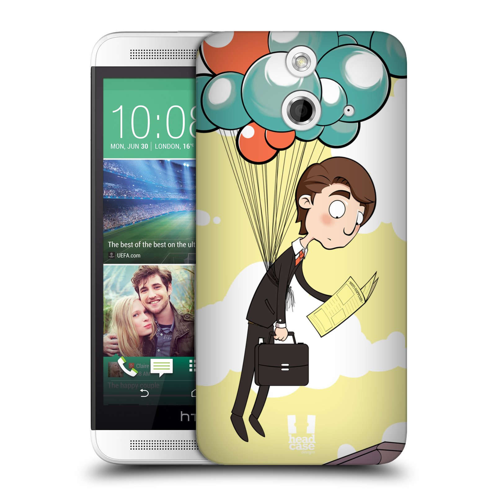 HEAD CASE DESIGNS HC MIX HARD BACK CASE FOR HTC ONE E8 DUAL SIM
