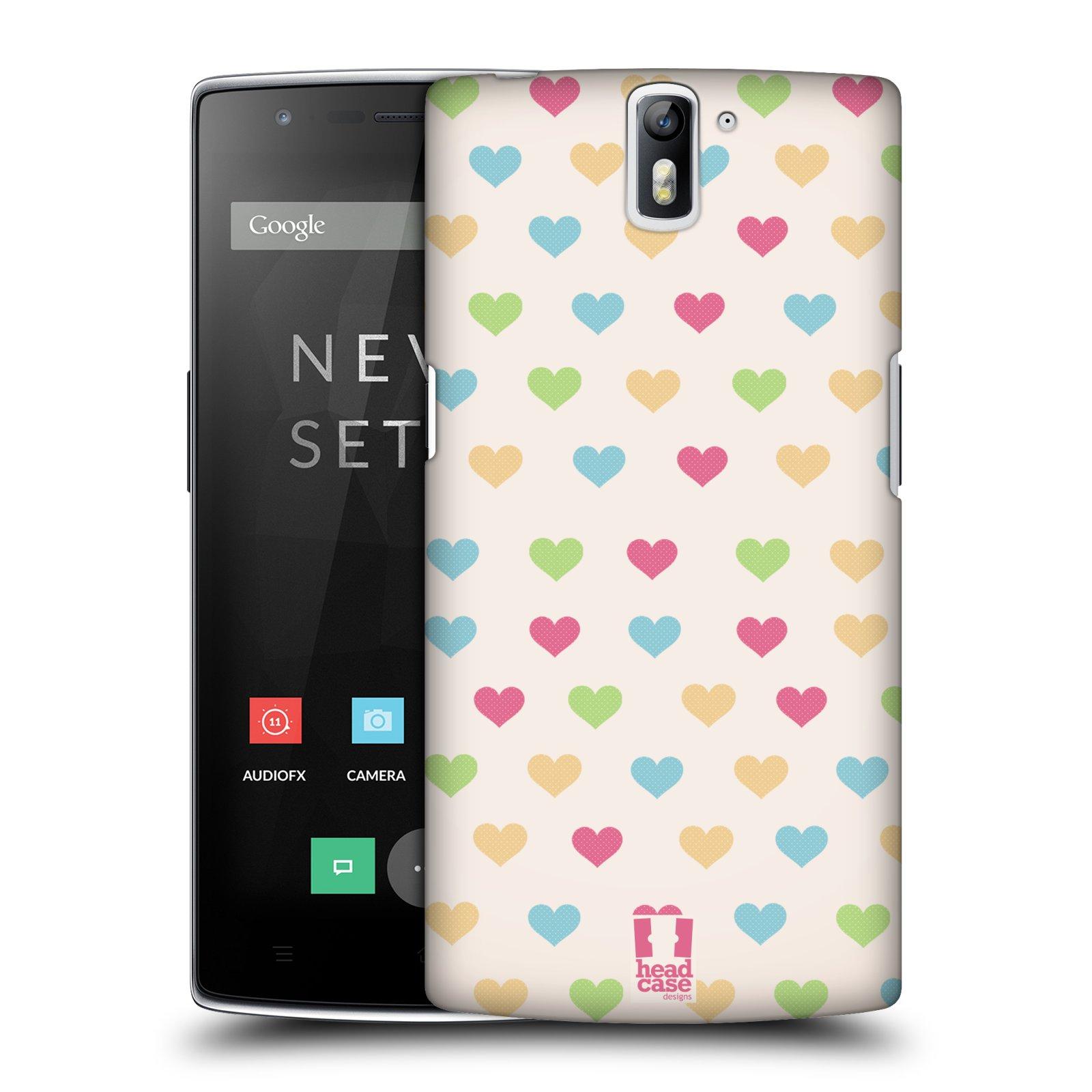 HEAD CASE pevný plastový obal na mobil OnePlus ONE vzor Srdíčka MALÁ BAREVNÁ SRDÍČKA