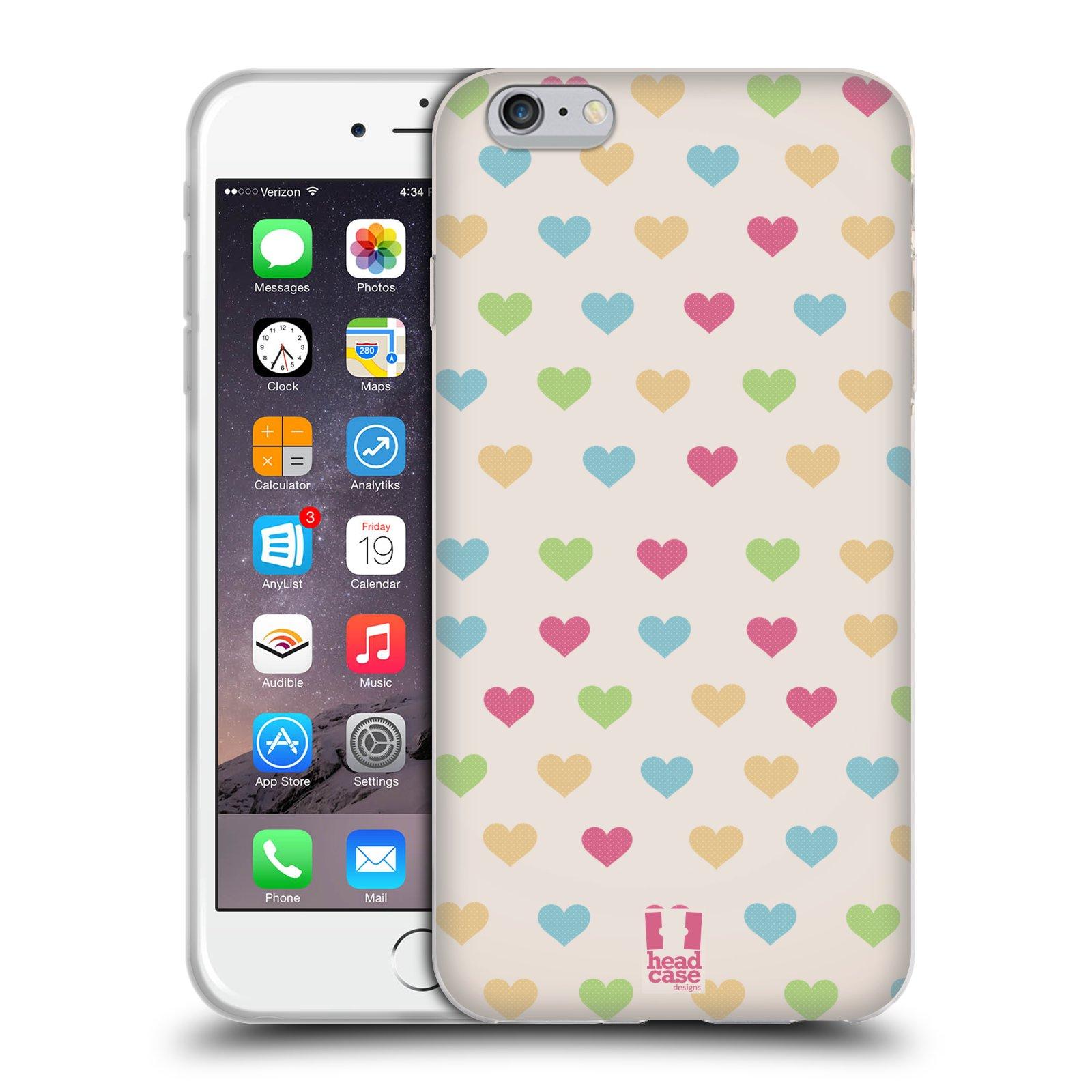 HEAD CASE silikonový obal na mobil Apple Iphone 6 PLUS  6S PLUS vzor Srdíčka  MALÁ BAREVNÁ SRDÍČKA 0efb637aa92