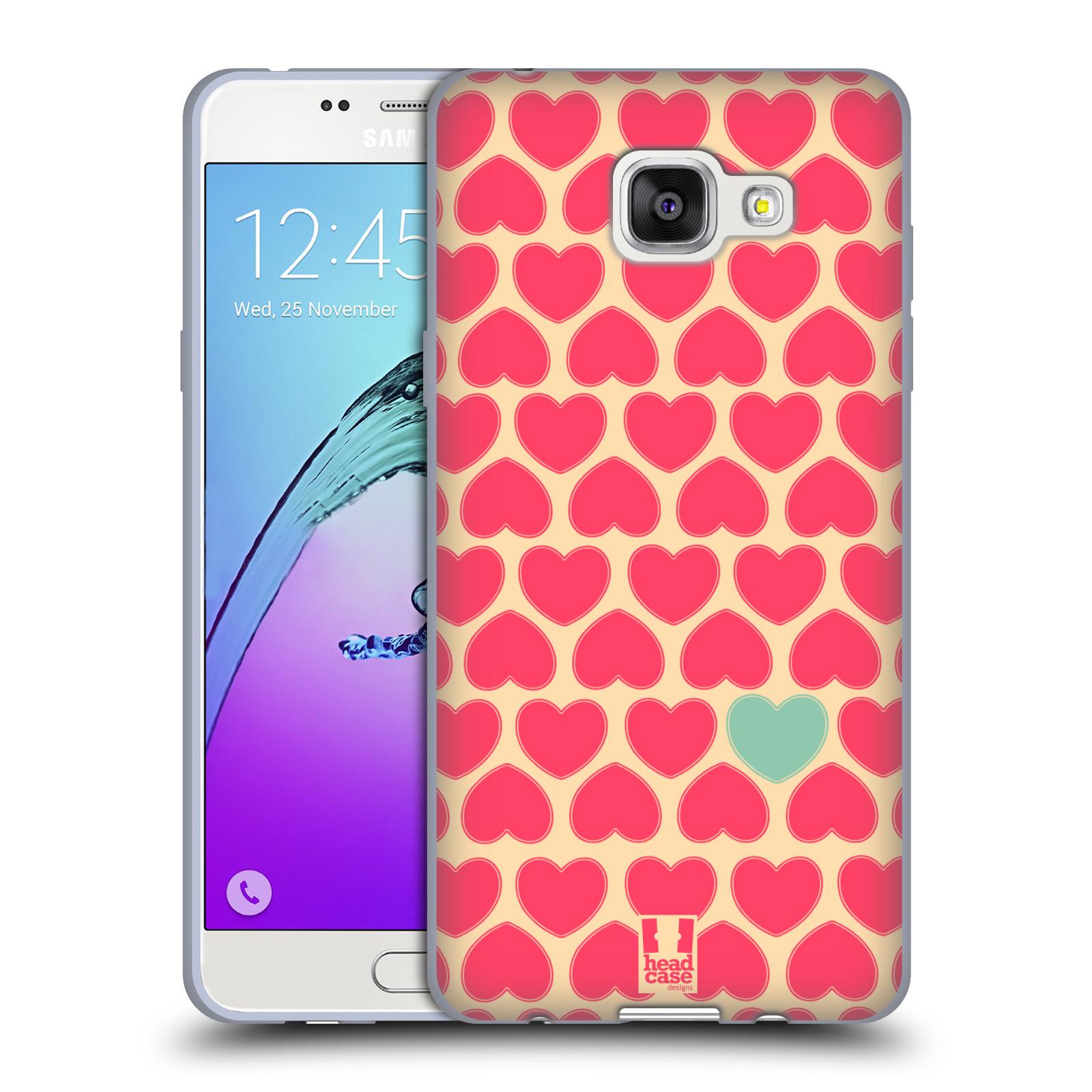 HEAD CASE silikonový obal na mobil Samsung Galaxy A5 (2016) vzor Srdíčka  RŮŽOVÁ A MODRÉ SRDCE 87987a85efd