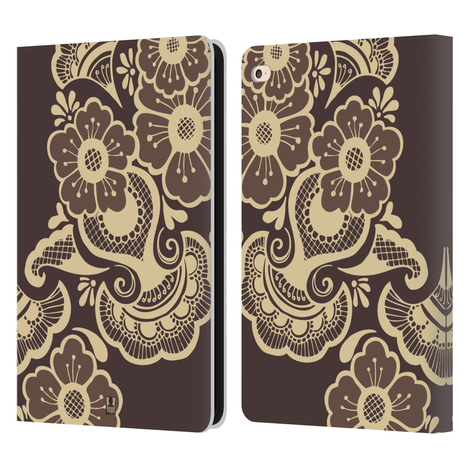 Leather Book Cover Design : Head case designs henna leather book wallet cover for