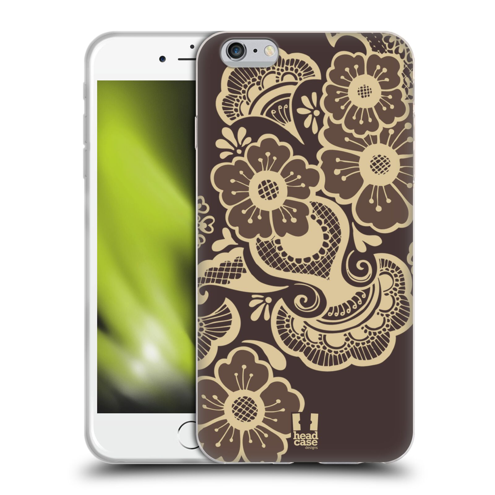 HEAD CASE silikonový obal na mobil Apple Iphone 6 PLUS/ 6S PLUS vzor Hena tetování KRAJKA