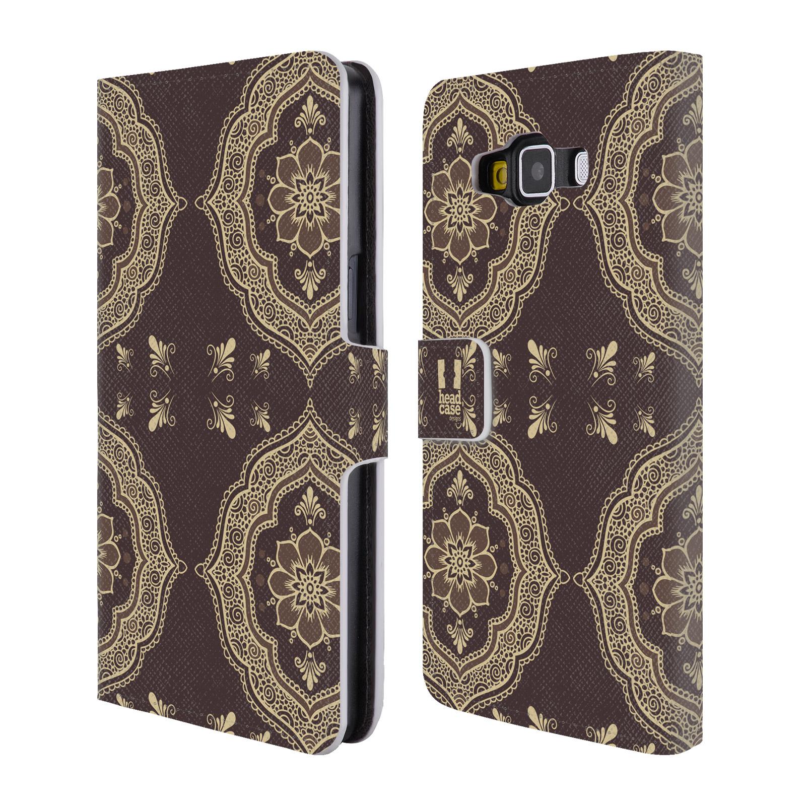 HEAD CASE Flipové pouzdro pro mobil Samsung Galaxy A5 Hena kresba slunce